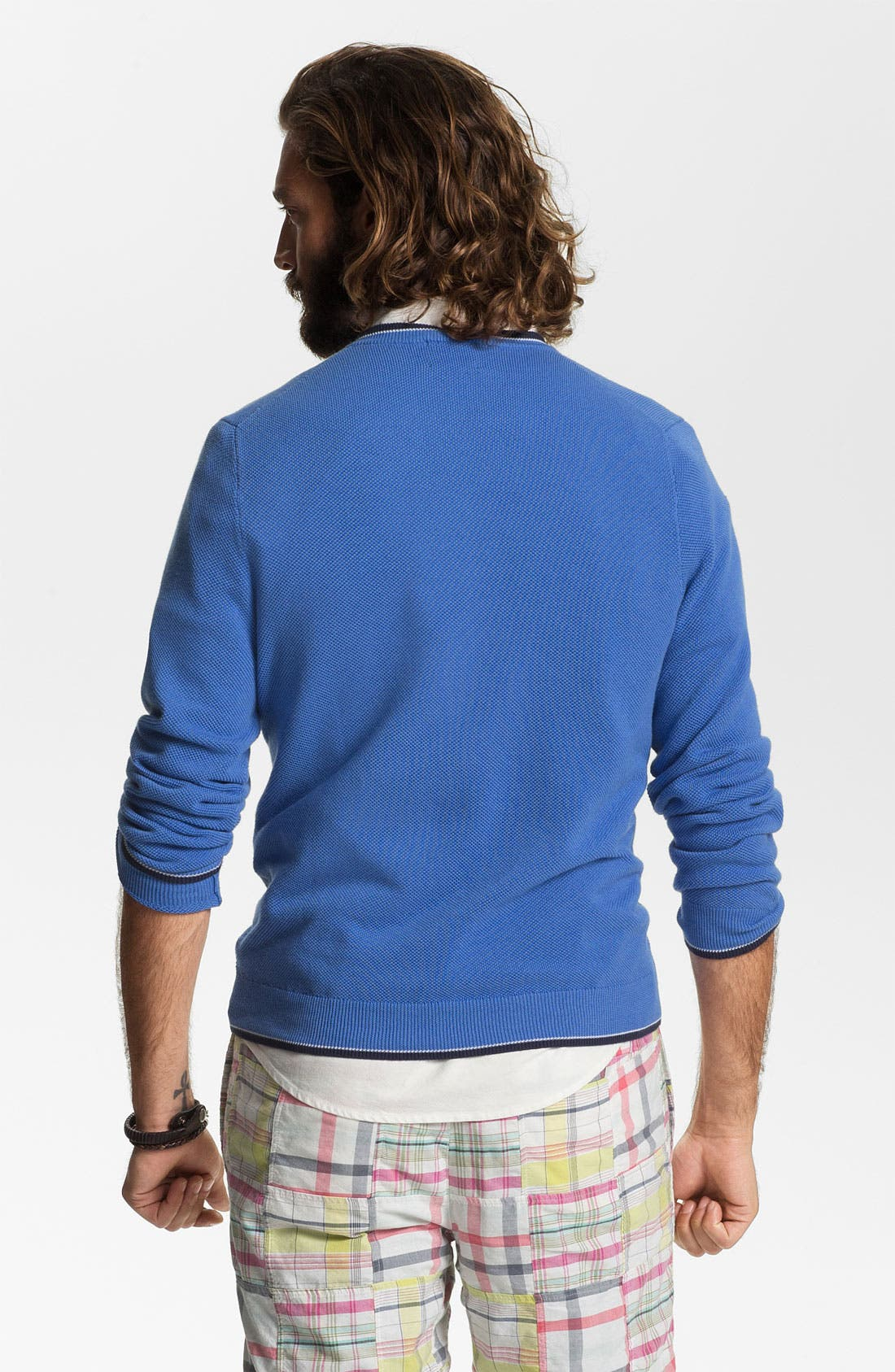 Alternate Image 2  - Brooks Brothers V-Neck Supima® Cotton Sweater