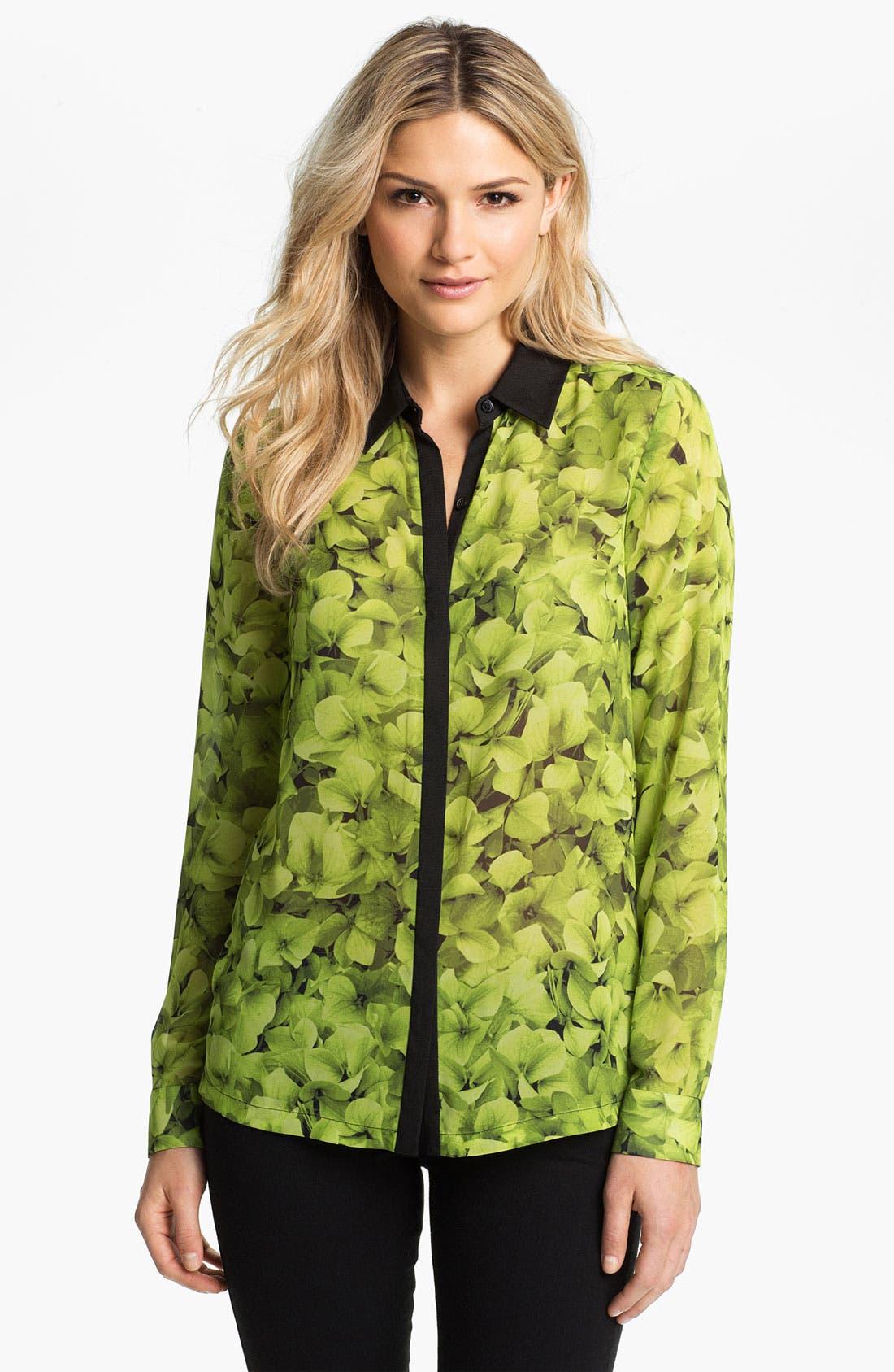 Main Image - MICHAEL Michael Kors Sheer Floral Print Blouse