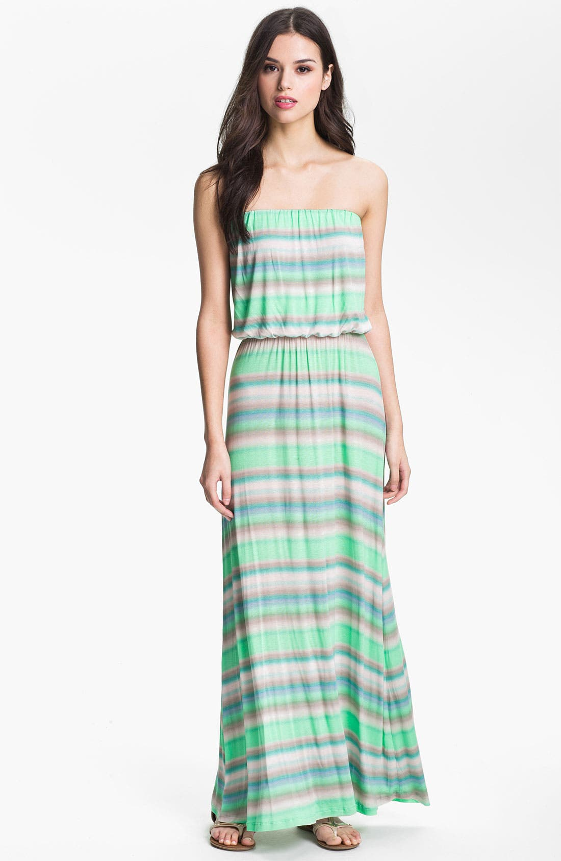 Alternate Image 1 Selected - Velvet by Graham & Spencer Stripe Blouson Knit Tube Dress