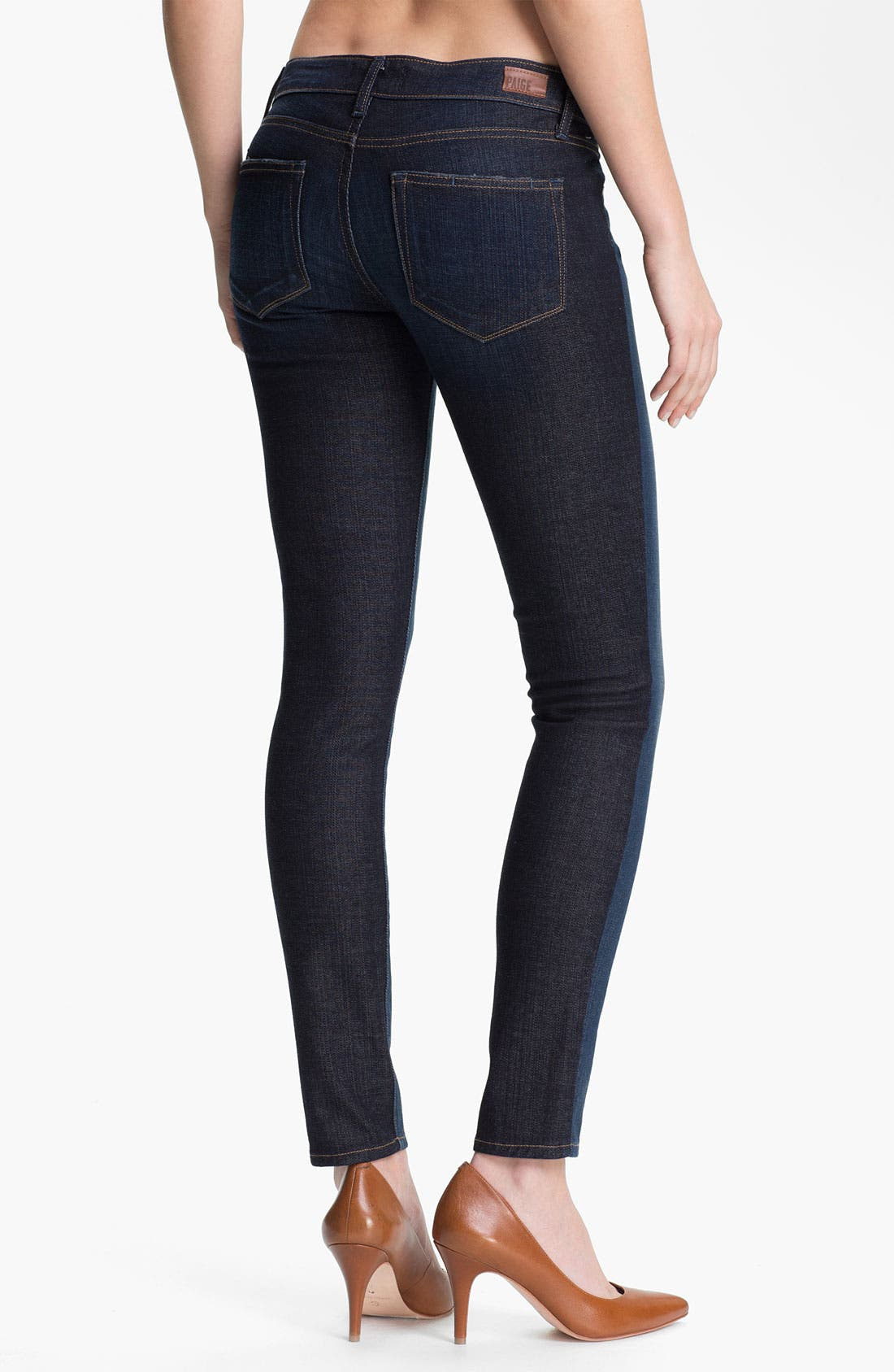 Alternate Image 2  - Paige Denim 'Emily' Two Tone Ultra Skinny Jeans (Kala)