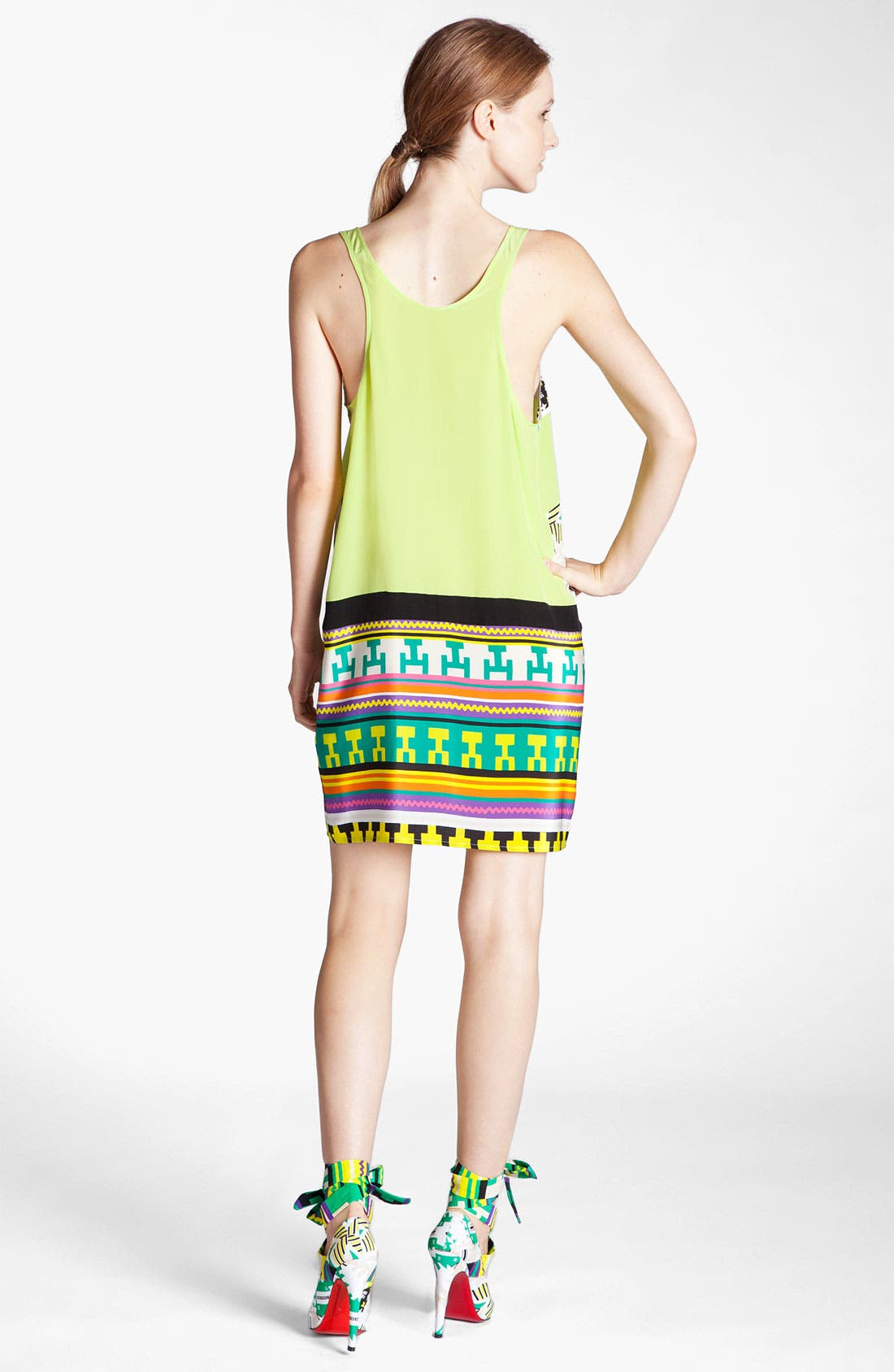 Alternate Image 2  - MSGM 'Memphis Print' Silk Tank Dress
