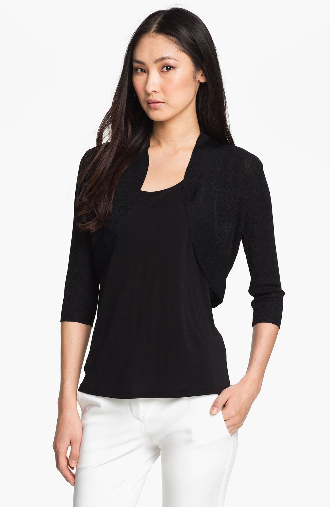 Alternate Image 1 Selected - Eileen Fisher Open Shrug (Regular & Petite)