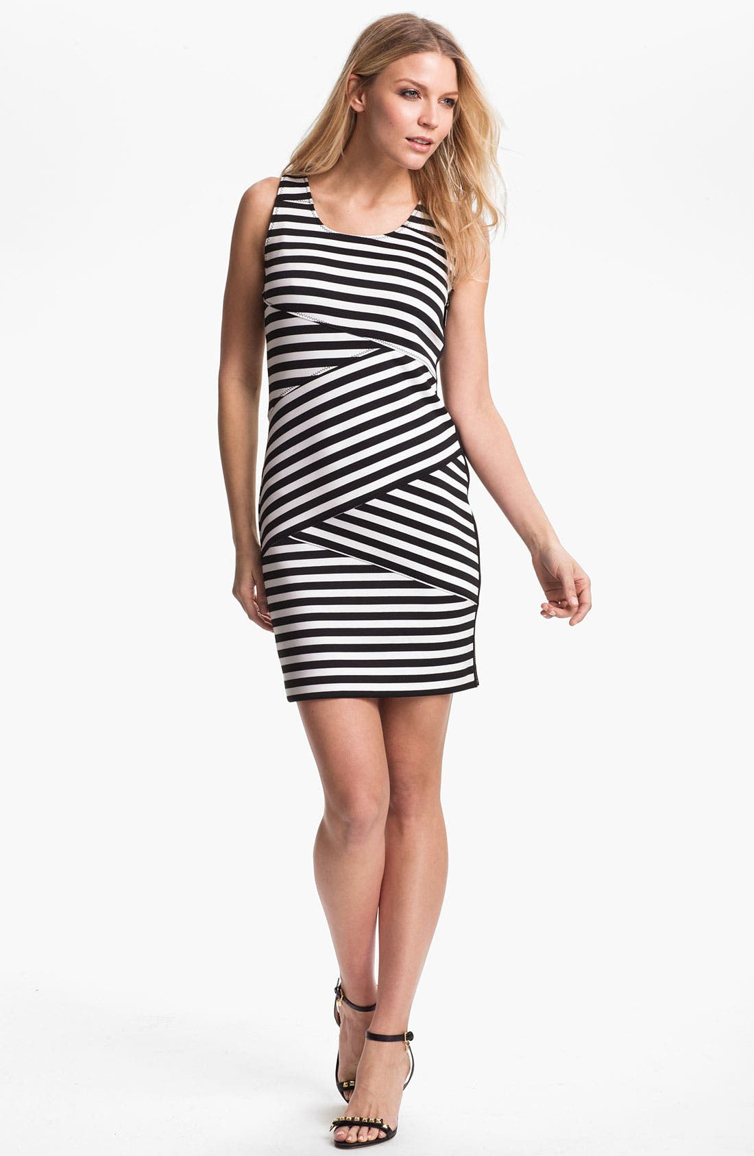 Main Image - MICHAEL Michael Kors Banded Stripe Dress