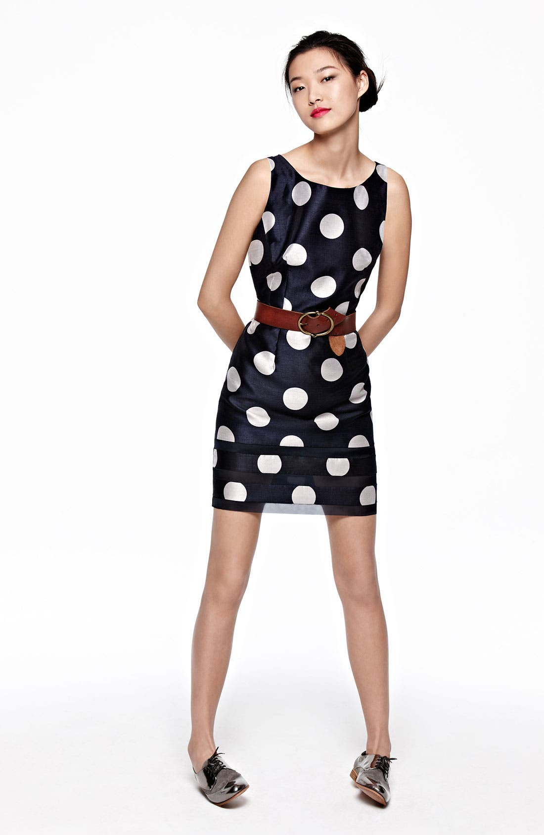 Alternate Image 2  - Taylor Dresses Polka Dot Sheath Dress