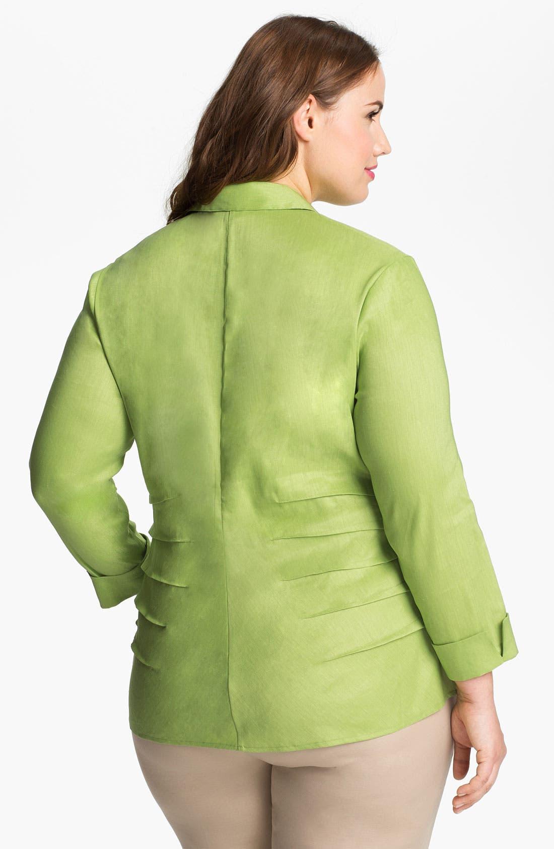 Alternate Image 2  - Nic + Zoe Button Up Shirt (Plus Size)