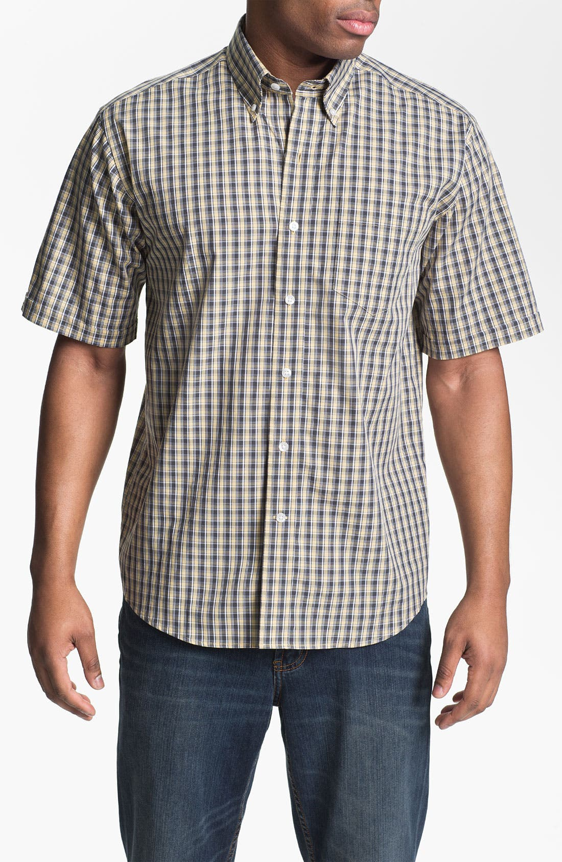 Alternate Image 1 Selected - Cutter & Buck 'Midvale' Check Sport Shirt (Big & Tall)