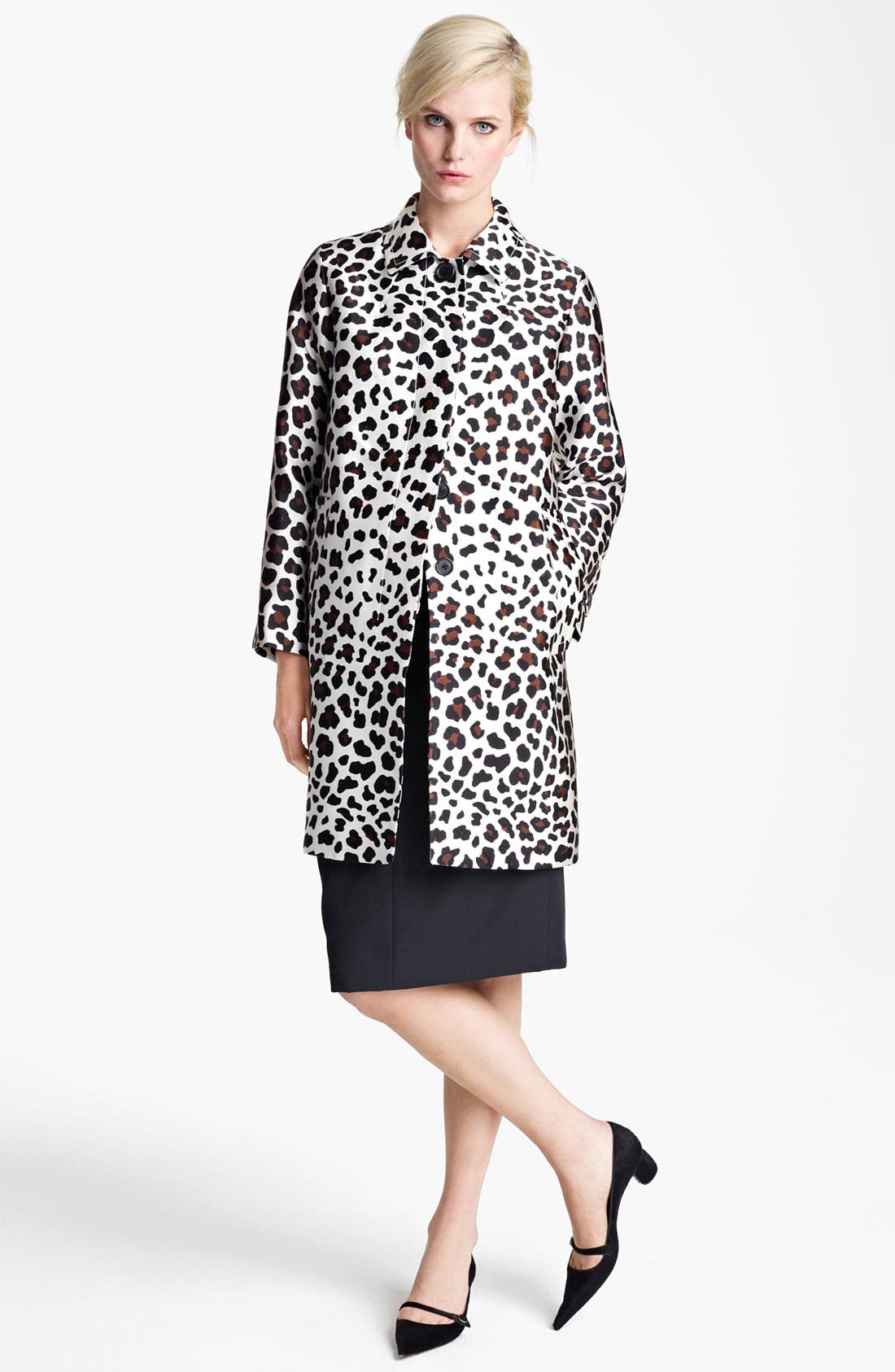 Alternate Image 1 Selected - MARC JACOBS Leopard Print Coat