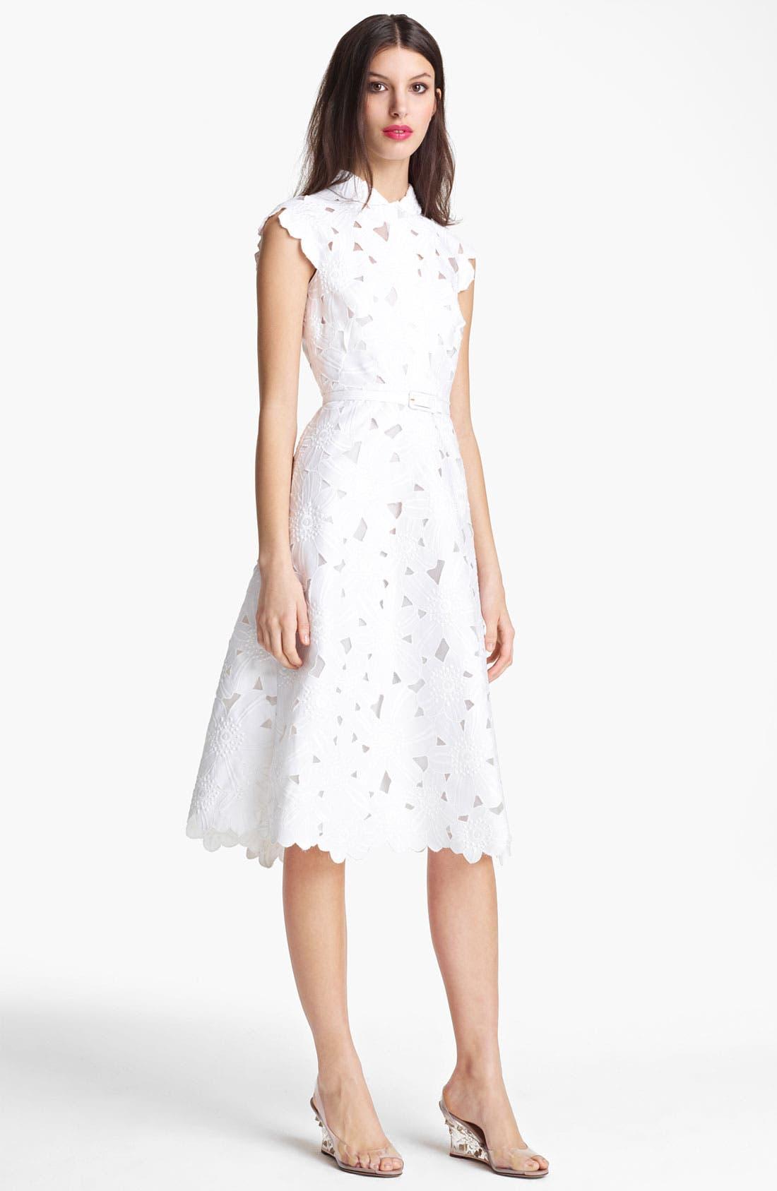 Main Image - Valentino Floral Piqué Dress
