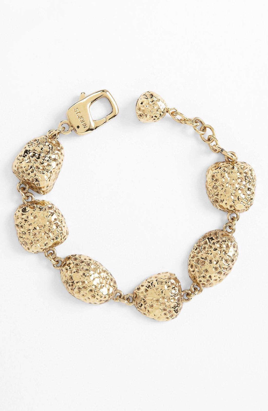 Alternate Image 1 Selected - St. John Collection Hammered Pebble Bracelet