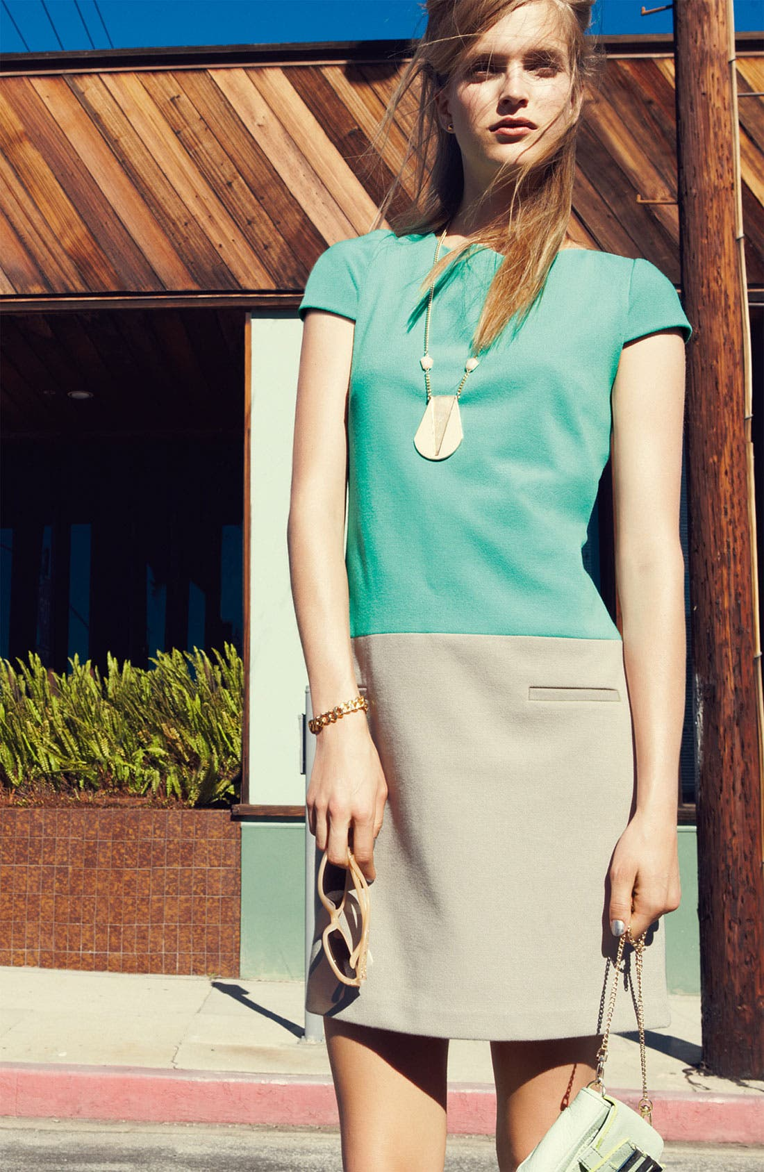 Alternate Image 4  - Eliza J Colorblock Shift Dress