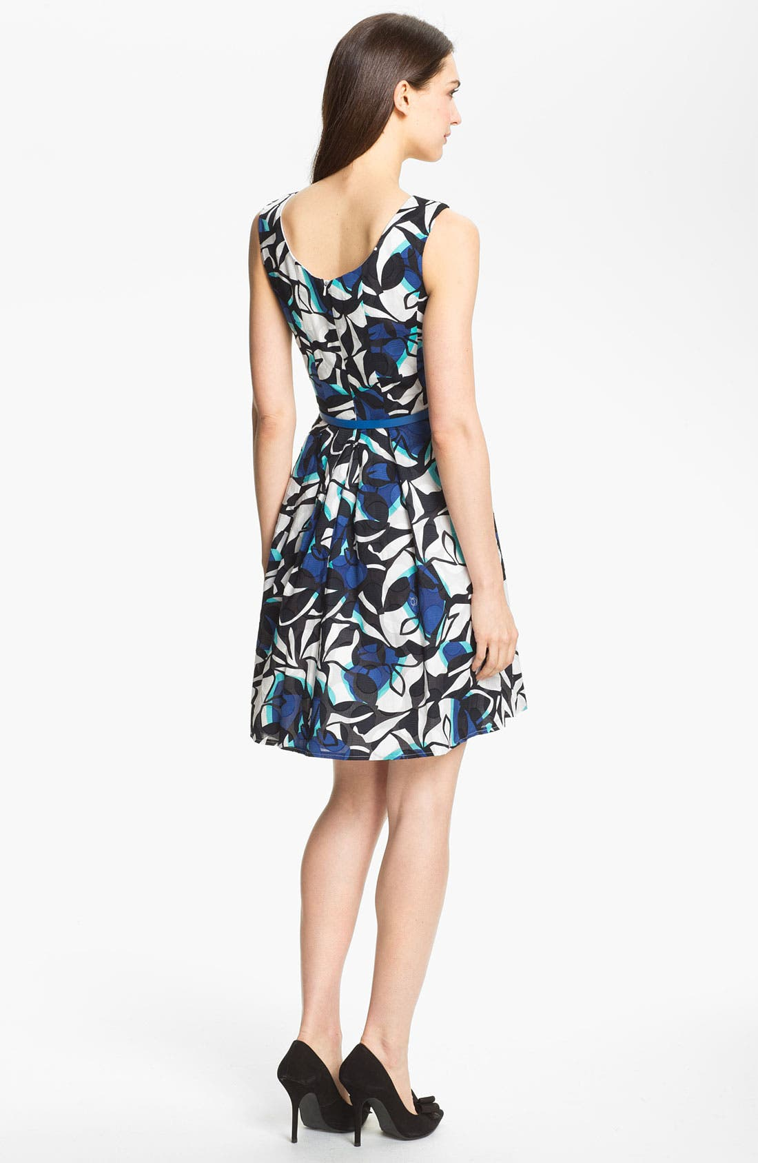 Alternate Image 2  - Donna Ricco Print Fit & Flare Dress