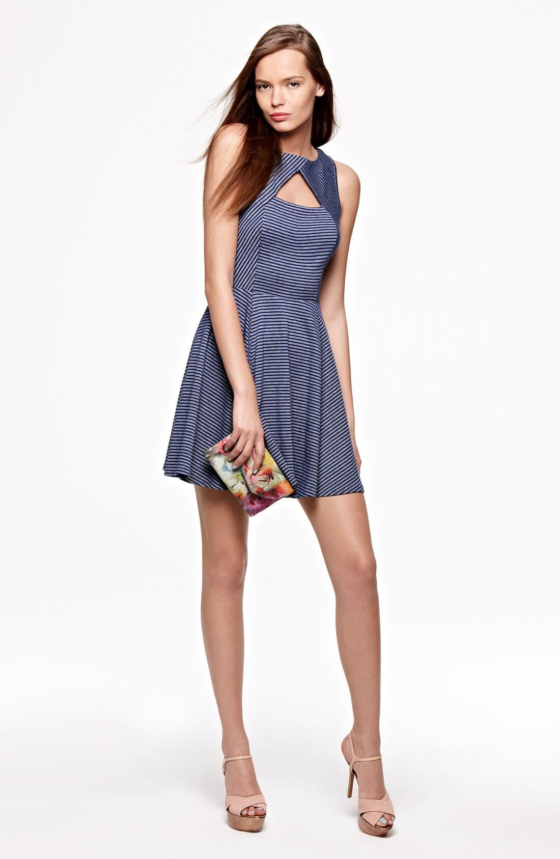 Alternate Image 4  - BB Dakota 'Dielia' Stripe Fit & Flare Dress