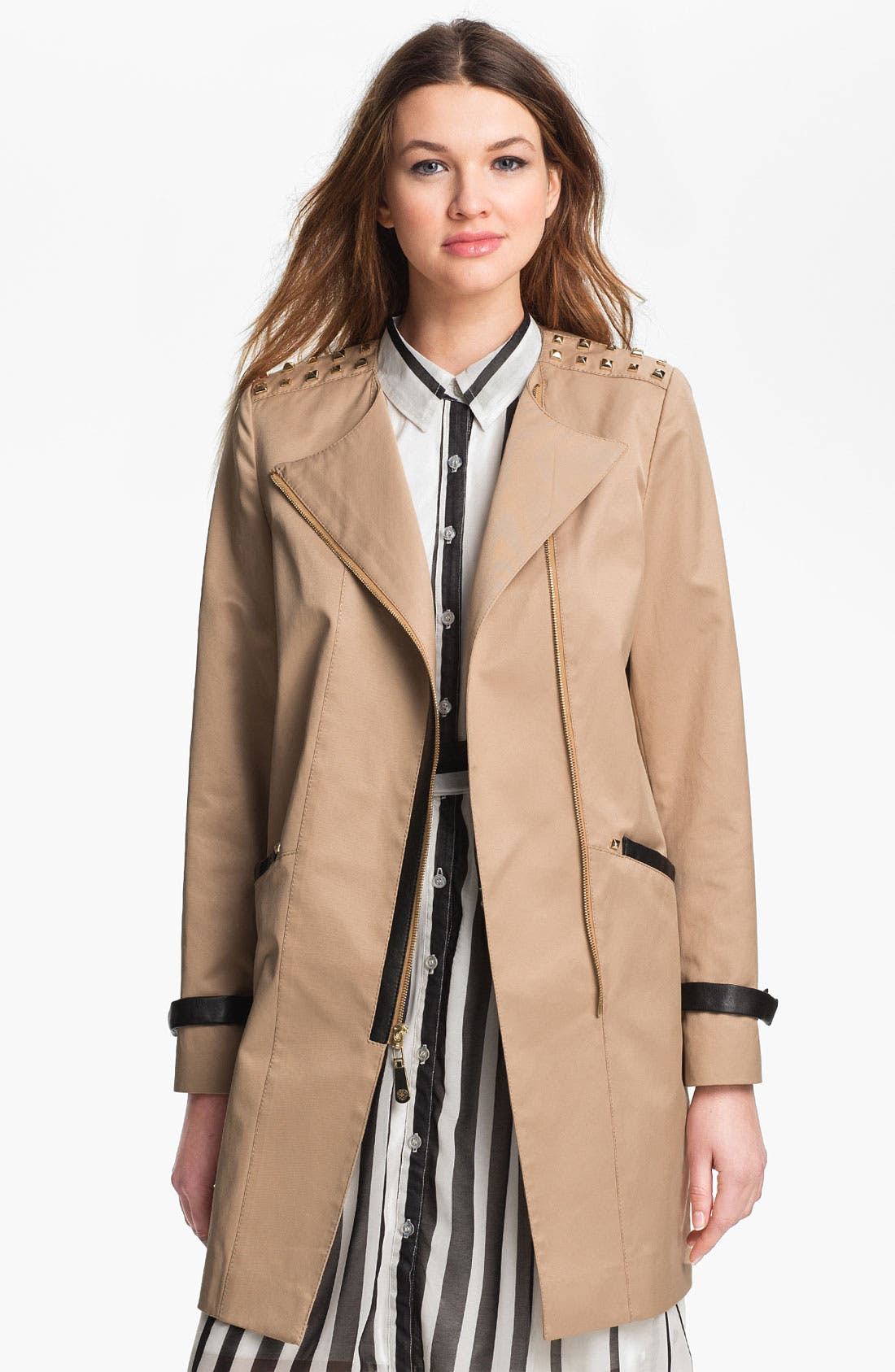 Alternate Image 2  - Vince Camuto 'Nicole' Studded Asymmetrical Coat (Online Only)
