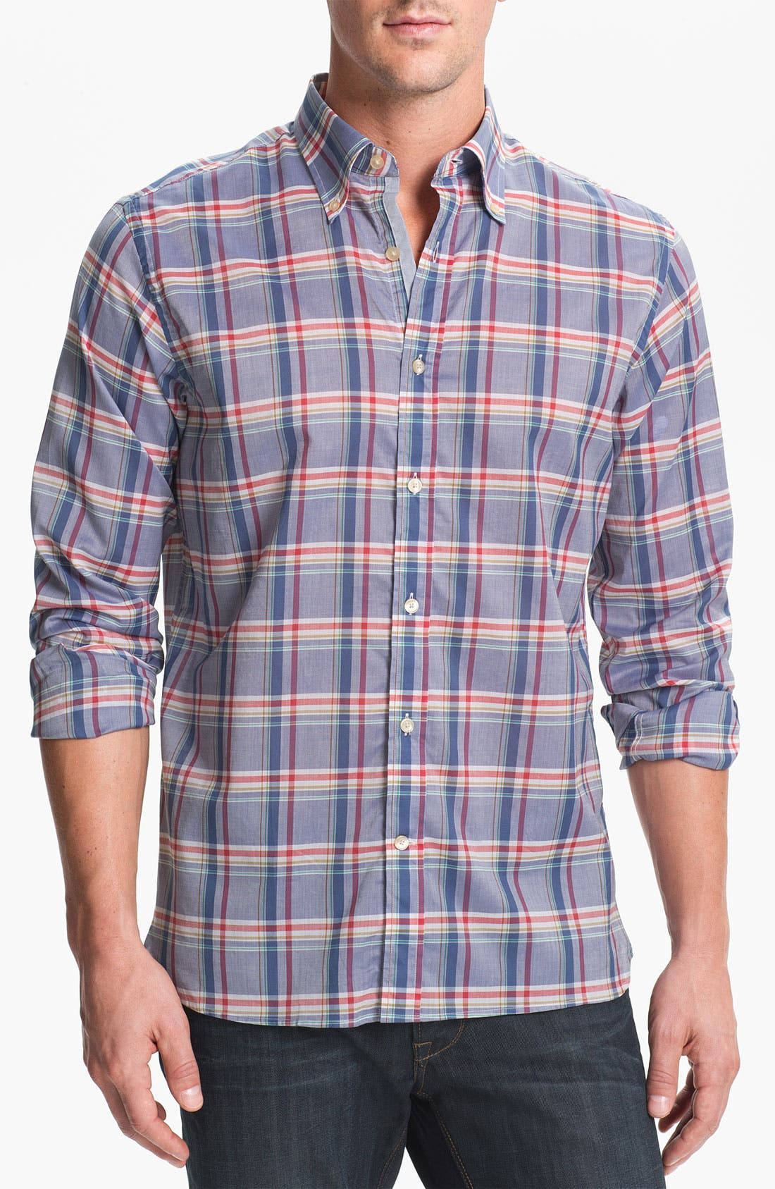 Alternate Image 1 Selected - Hickey Freeman Regular Fit Sport Shirt