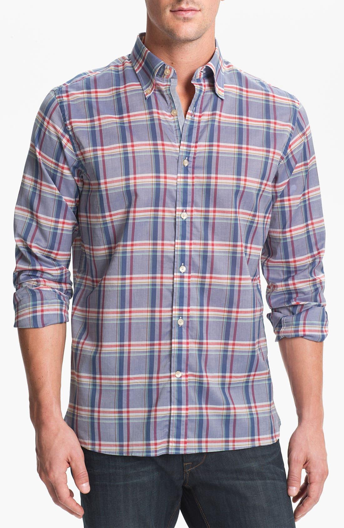 Main Image - Hickey Freeman Regular Fit Sport Shirt