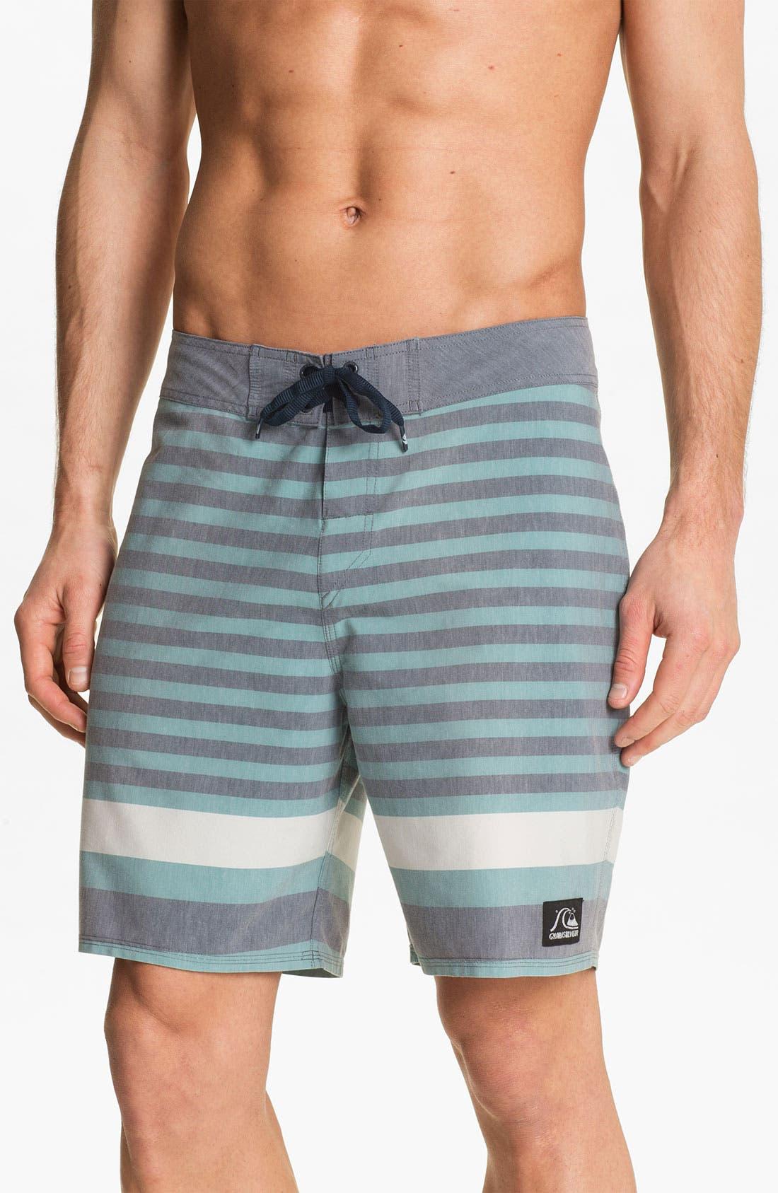 Main Image - Quiksilver 'Biarritz' Stripe Board Shorts
