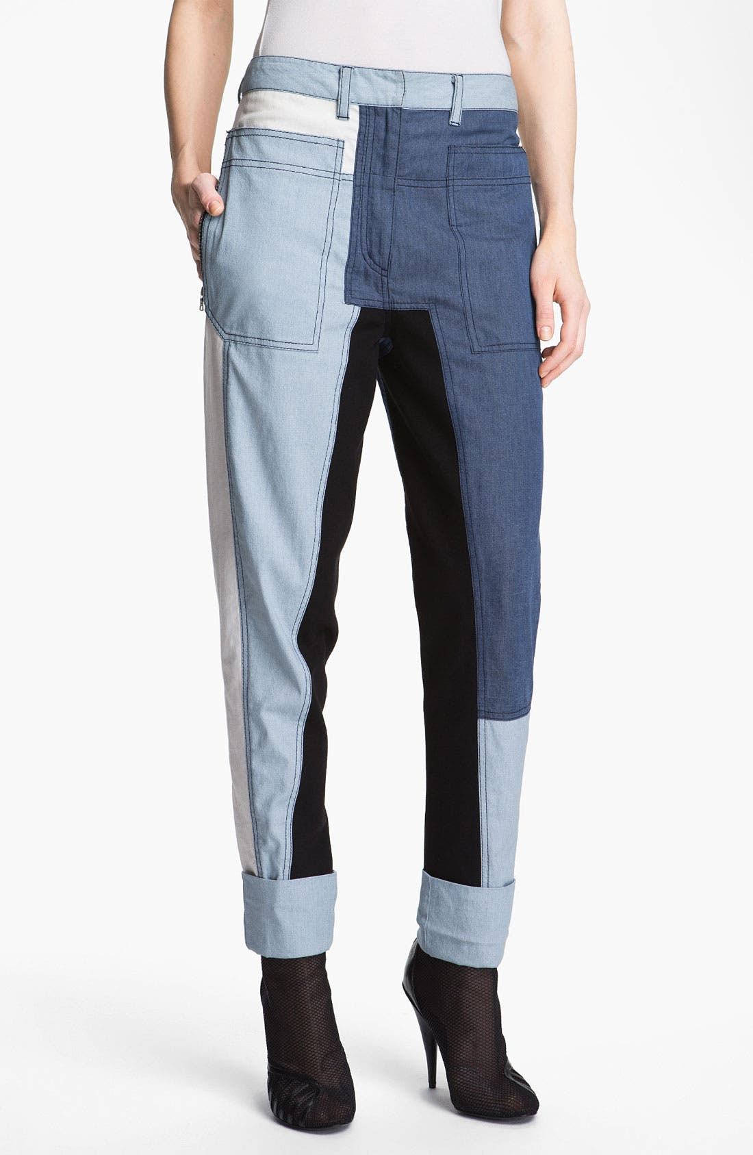 Alternate Image 1 Selected - 3.1 Phillip Lim 'Cut Up' Denim Pants