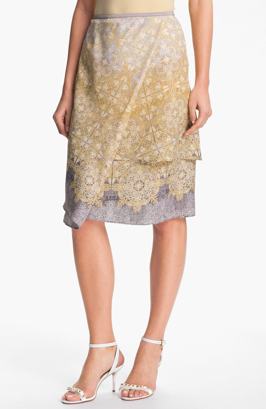 Alternate Image 1 Selected - Nic + Zoe 'Filigree' Print Skirt