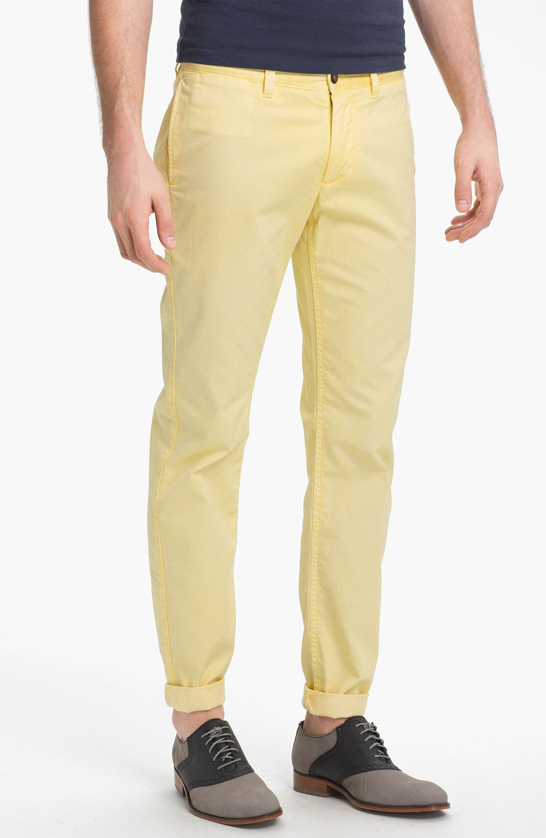 Alternate Image 1 Selected - Jack Spade Woven Shirt & Slim Fit Chinos