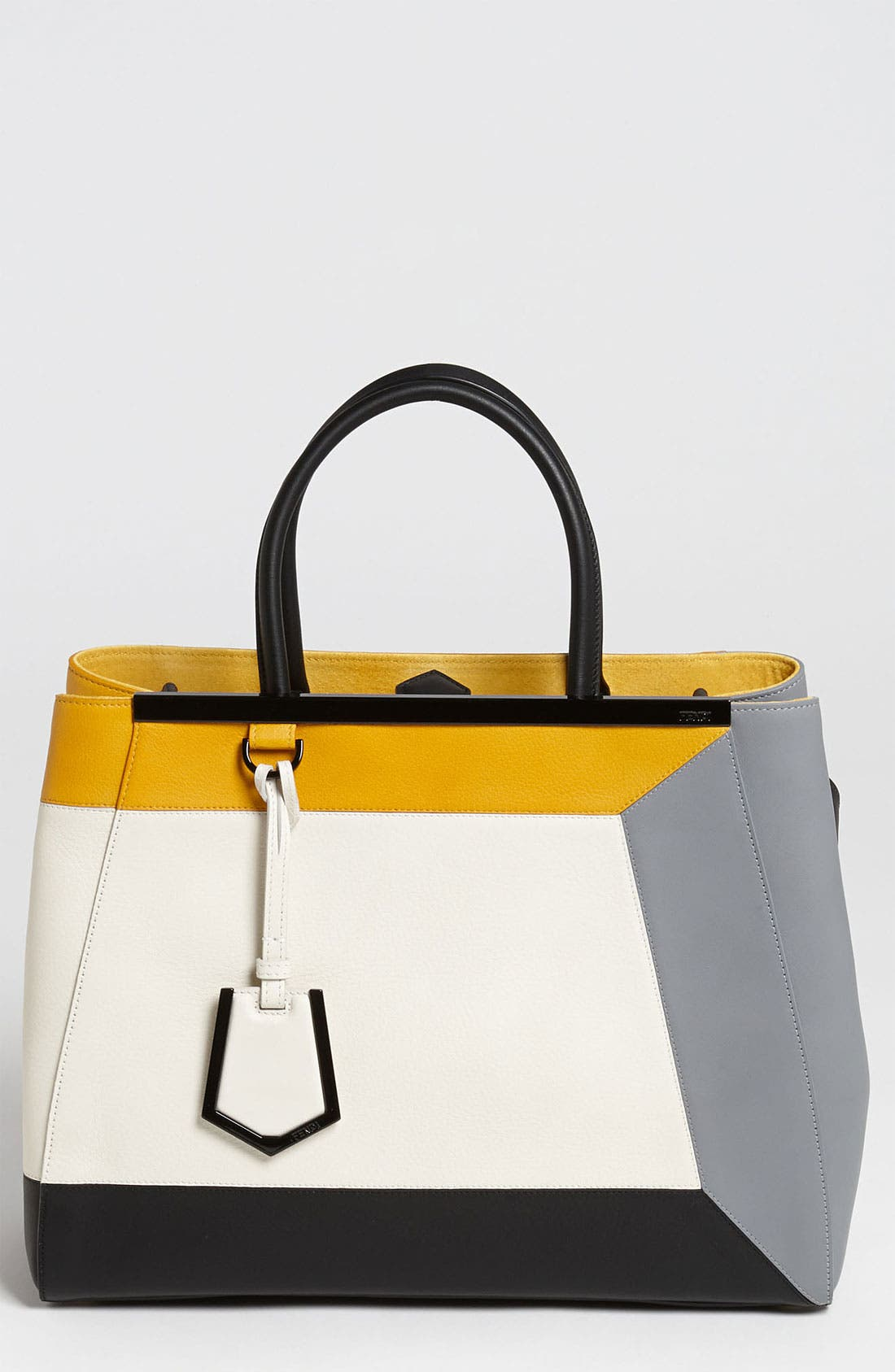 Main Image - Fendi '2Jours 3D - Medium' Leather Shopper