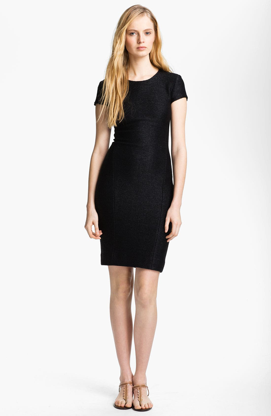 Alternate Image 1 Selected - L'AGENCE Fitted Raffia Dress