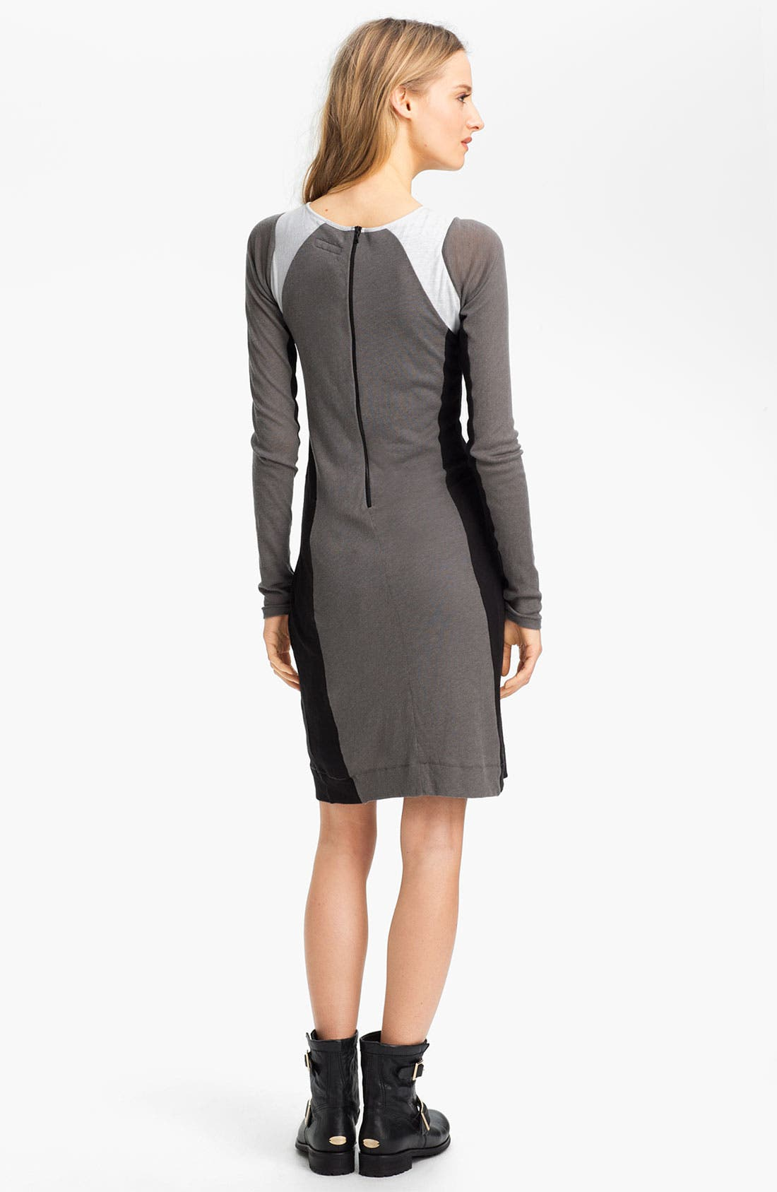 Alternate Image 3  - rag & bone 'The Moto' Contrast Panel Dress