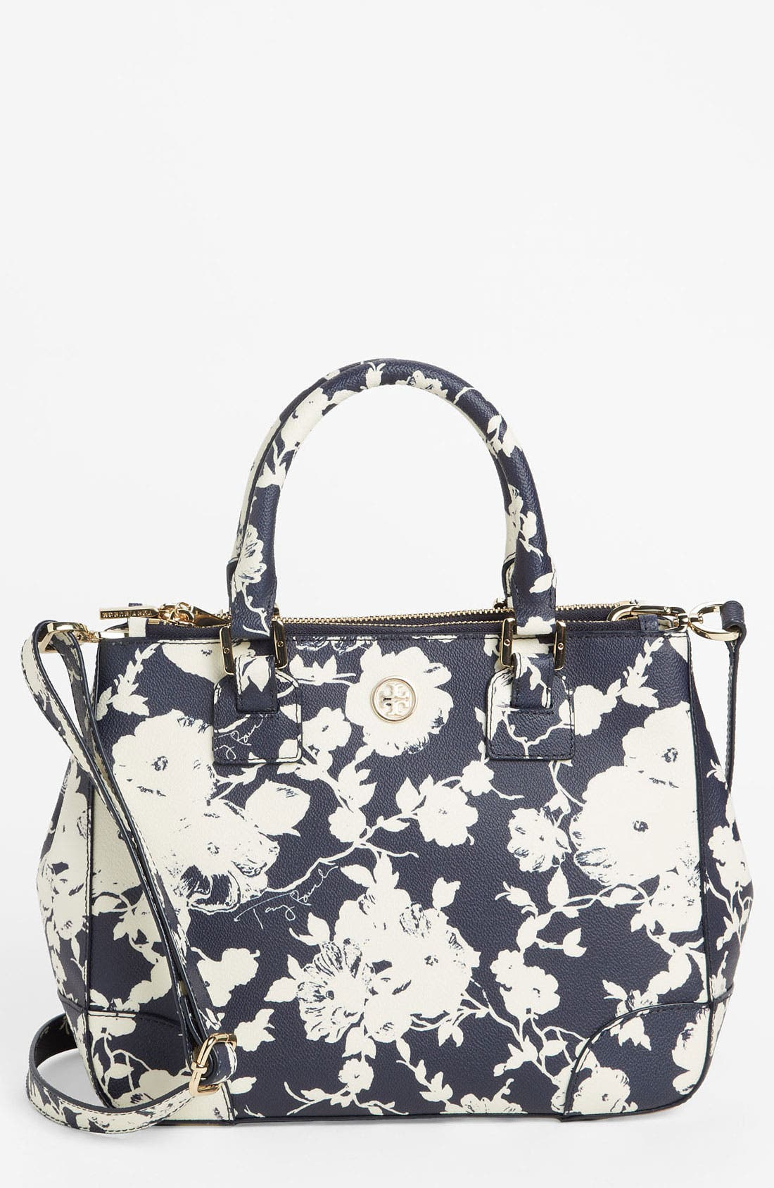 Main Image - Tory Burch 'Robinson - Small' Double Zip Tote