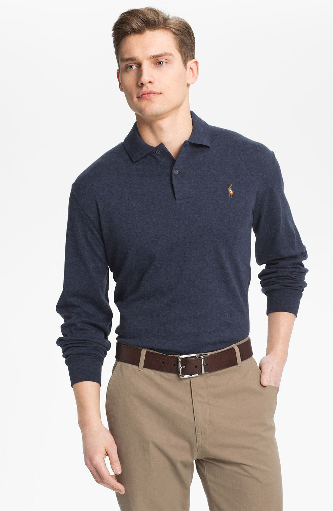 Alternate Image 1 Selected - Polo Ralph Lauren Classic Fit Long Sleeve Polo