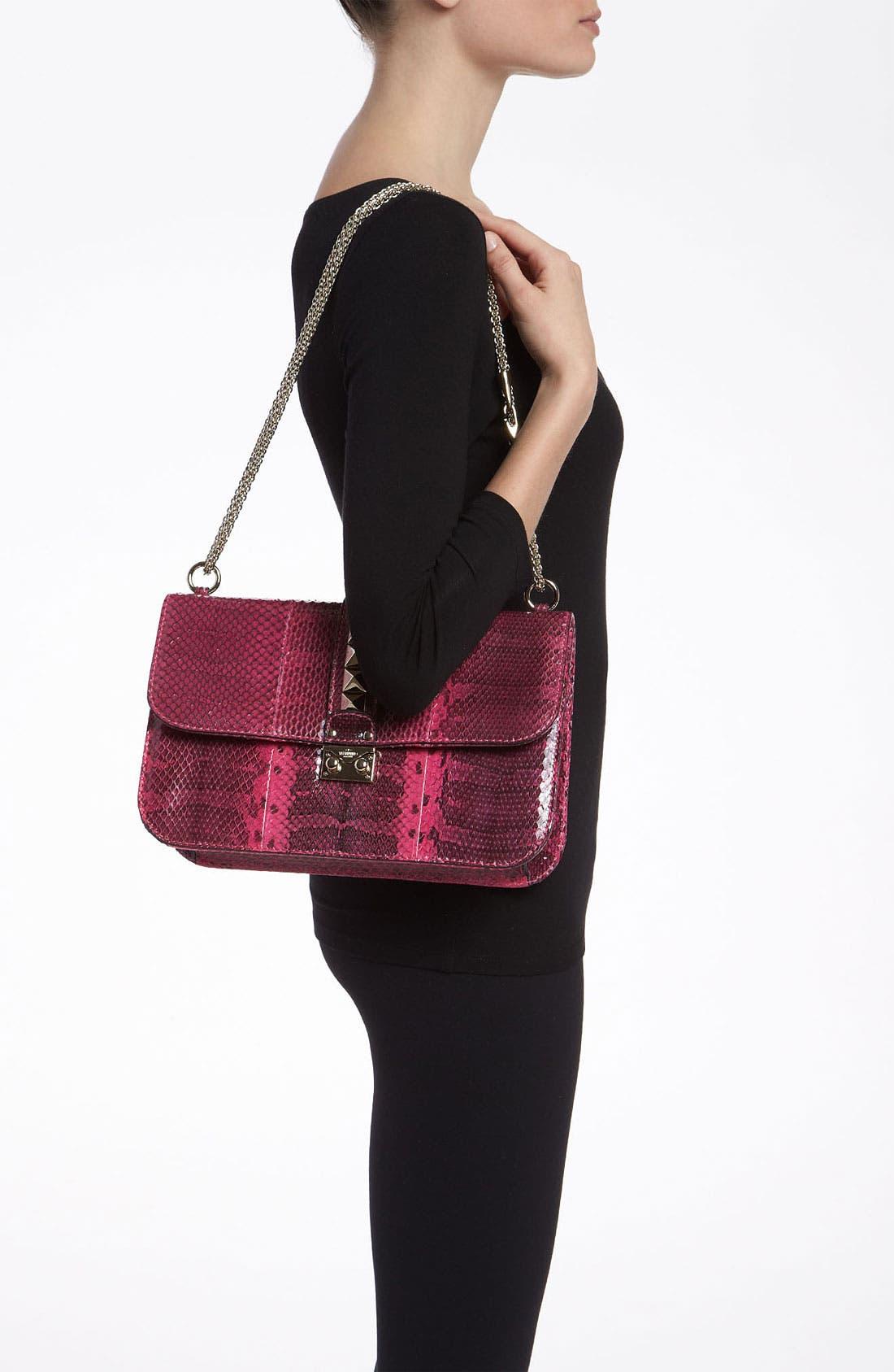 Alternate Image 2  - Valentino 'Lock - Medium' Genuine Snakeskin Shoulder Bag