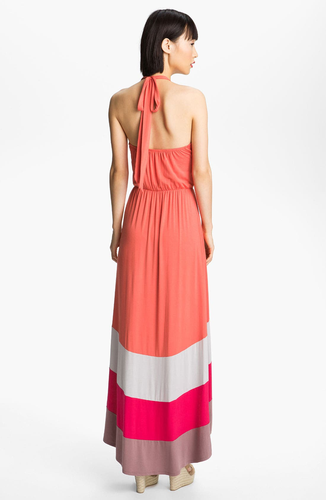 Alternate Image 2  - Felicity & Coco Colorblock High/Low Halter Maxi Dress (Nordstrom Exclusive)