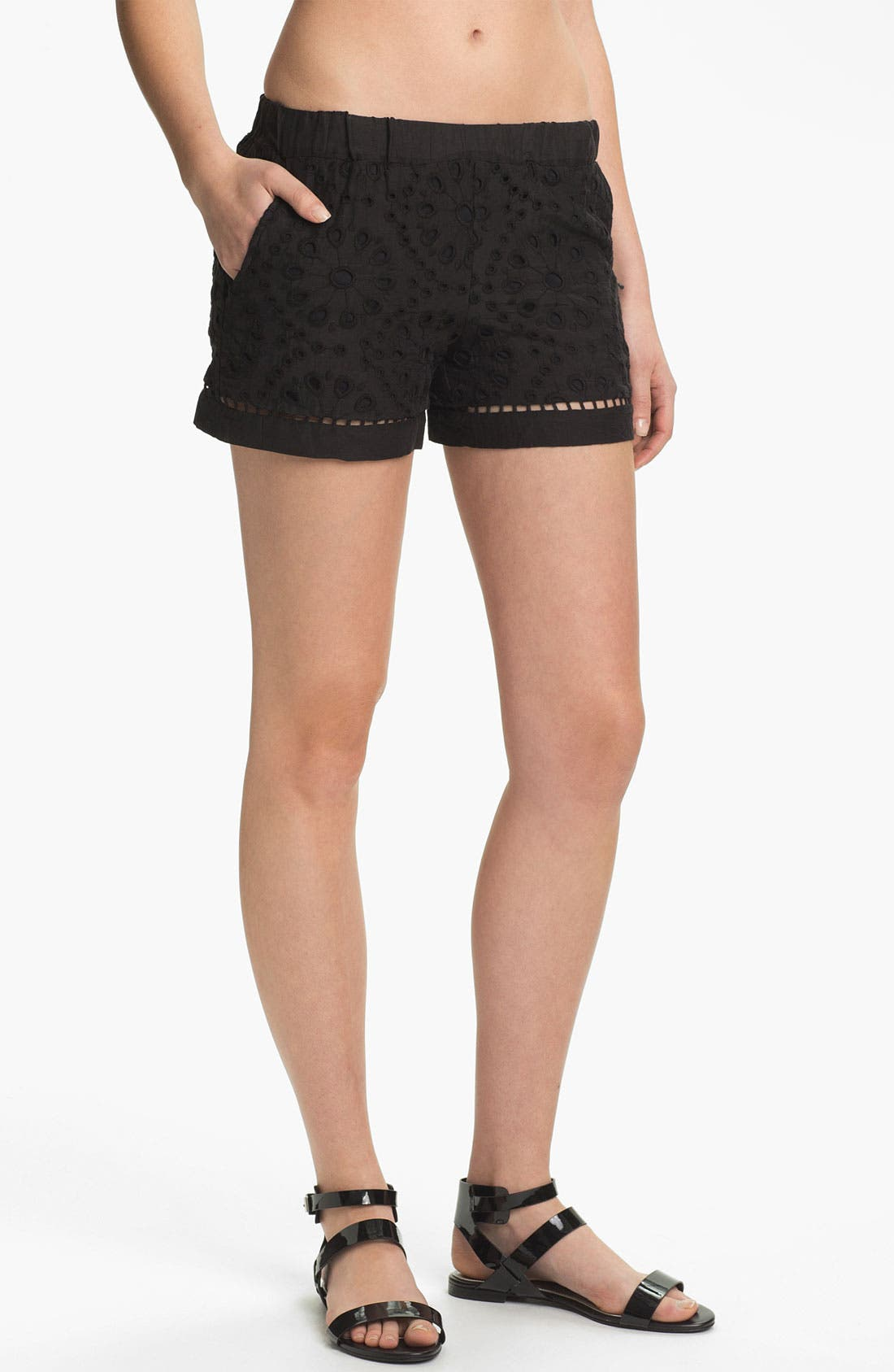 Main Image - Ella Moss 'Heidi' Eyelet Lace Shorts