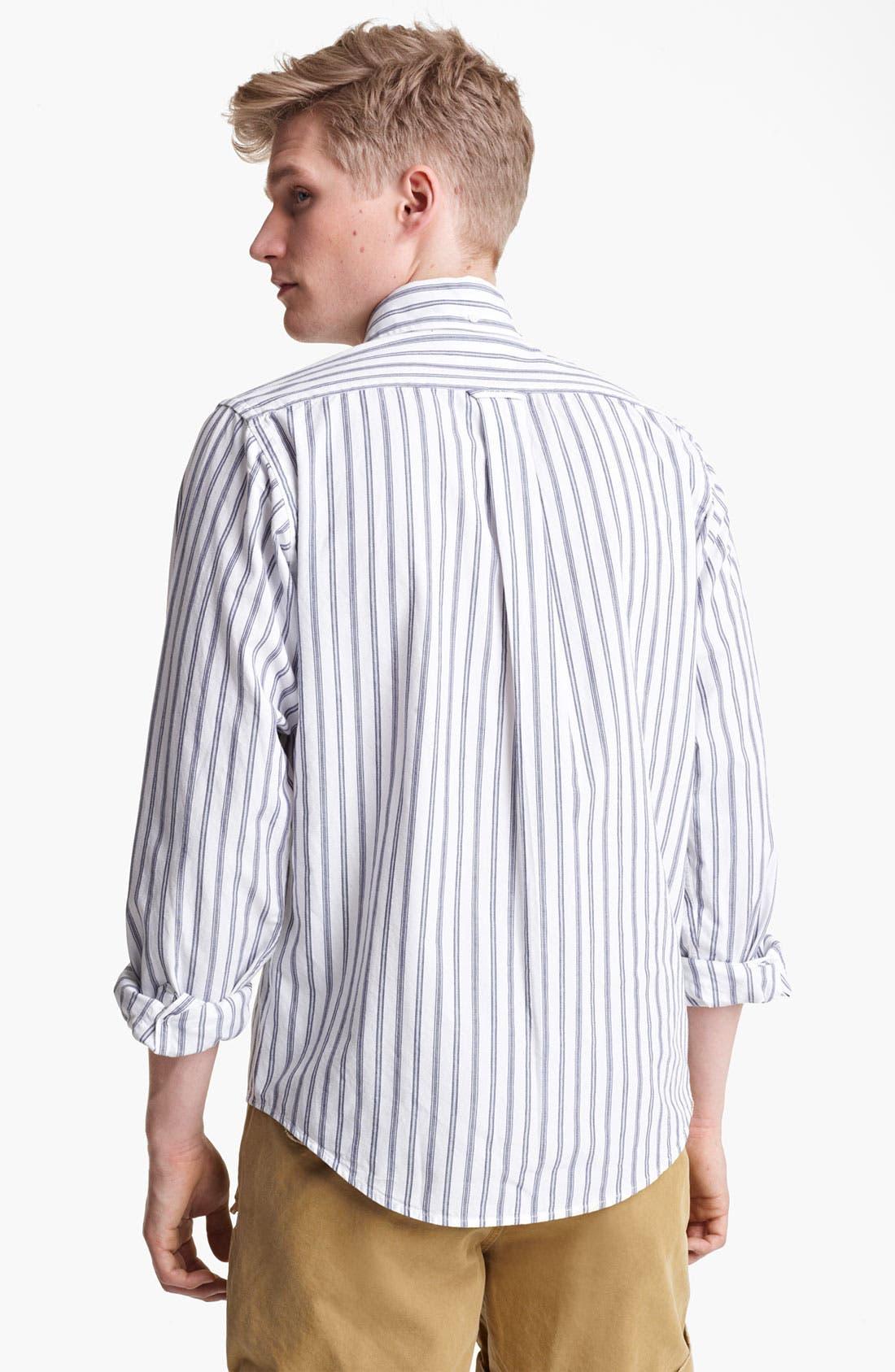 Alternate Image 2  - Gant by Michael Bastian Ticking Stripe Woven Shirt