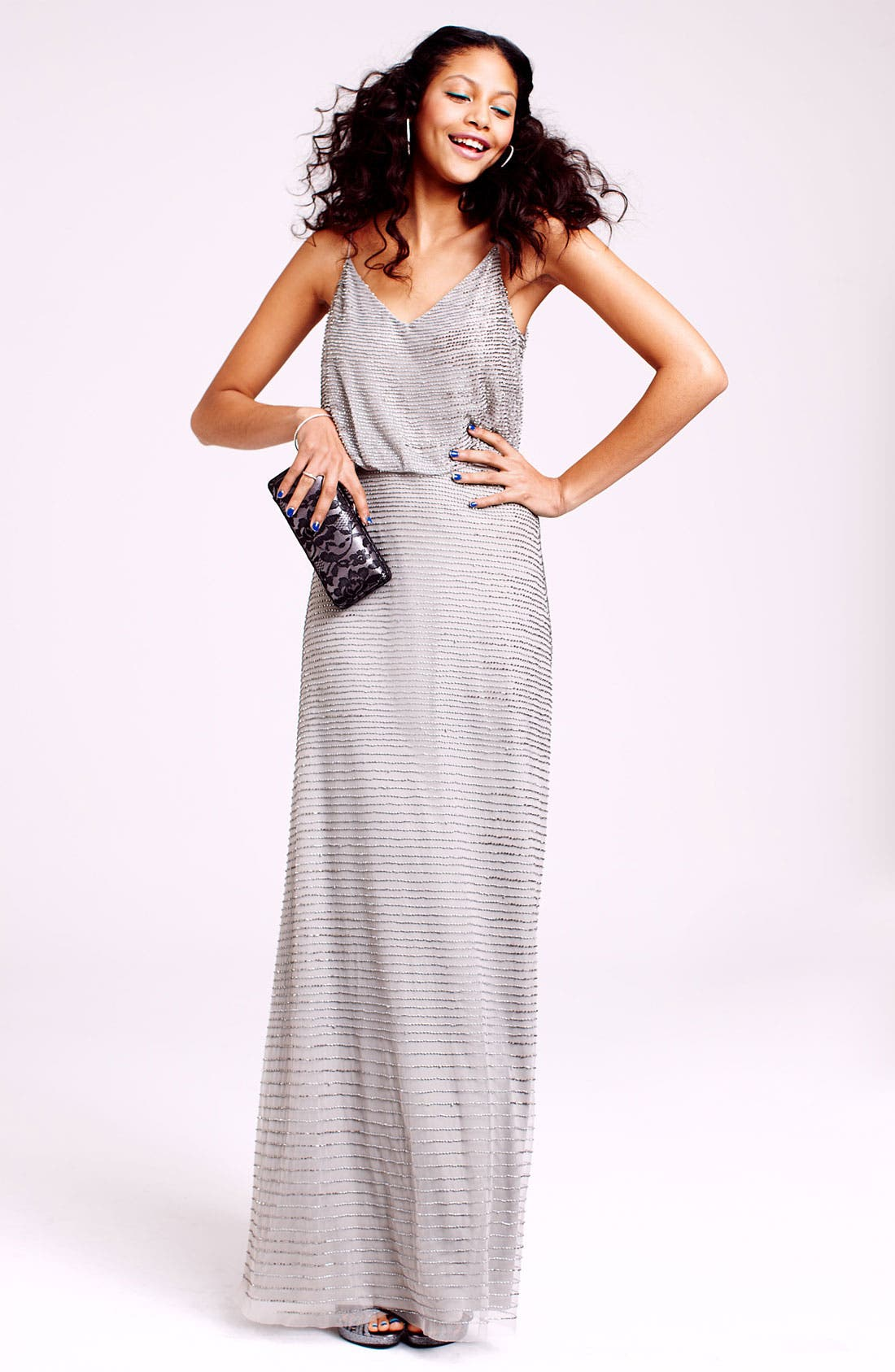 Alternate Image 4  - Adrianna Papell Embellished Blouson Mesh Gown
