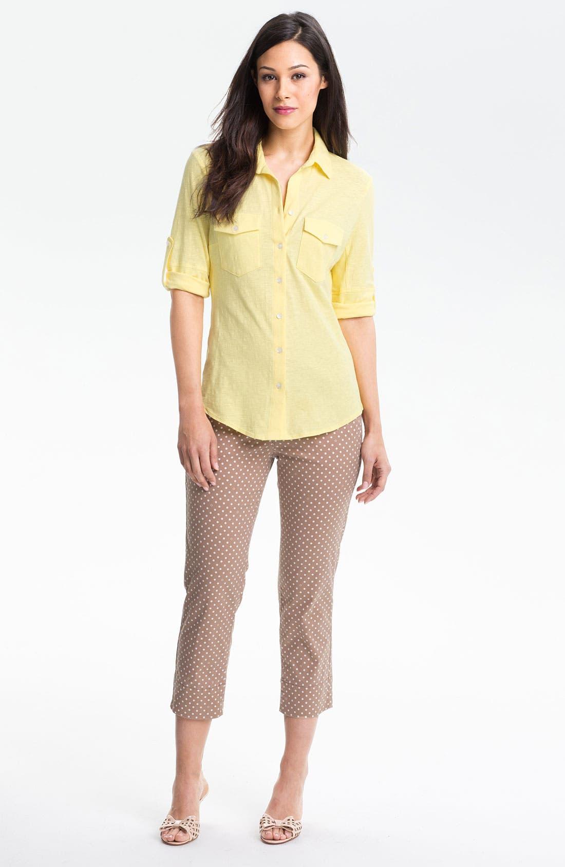 Main Image - Jag Jeans 'Maitland' Crop Twill Pants (Petite)