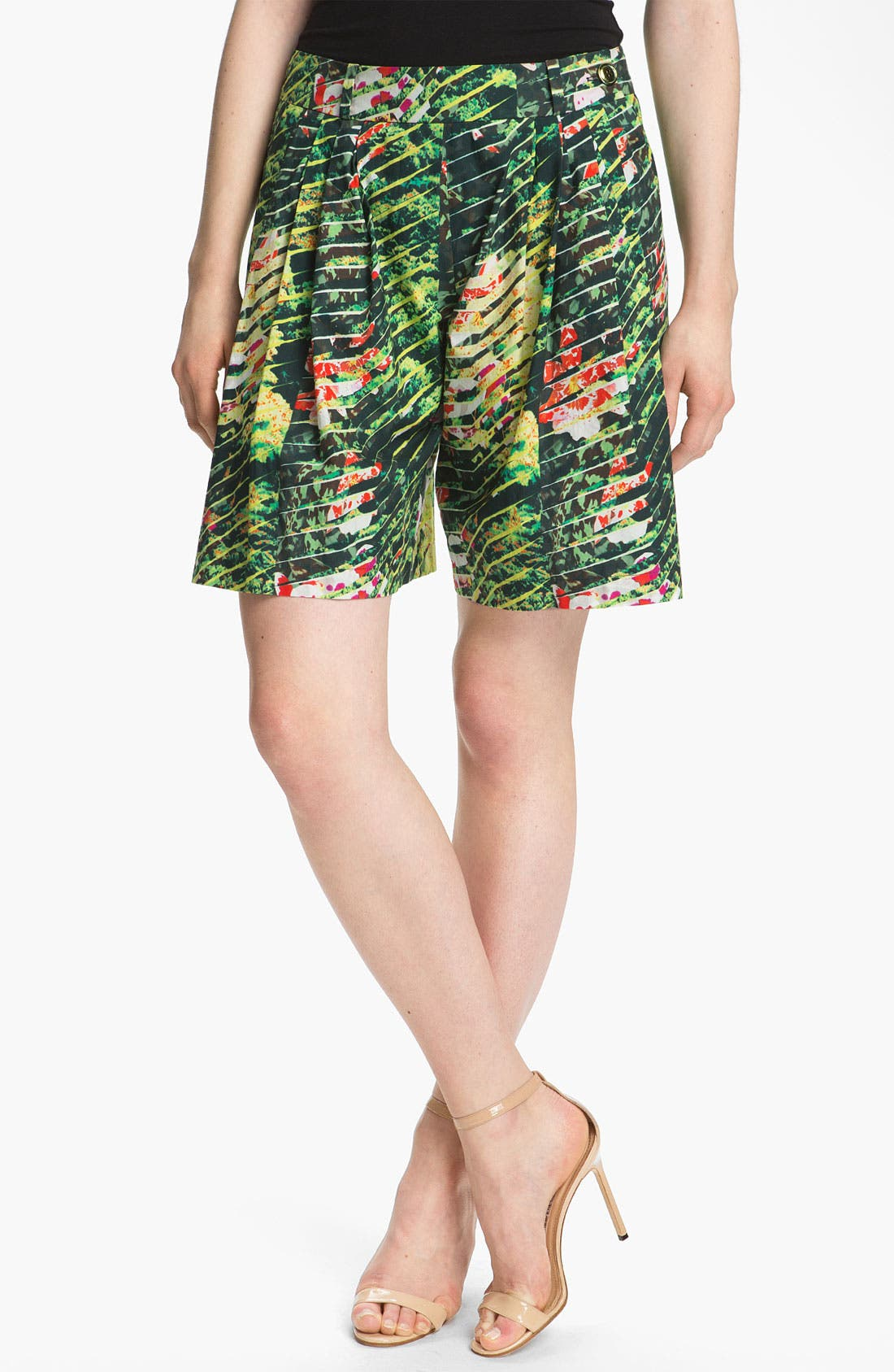 Alternate Image 1 Selected - KENZO Forest Print Poplin Bermuda Shorts