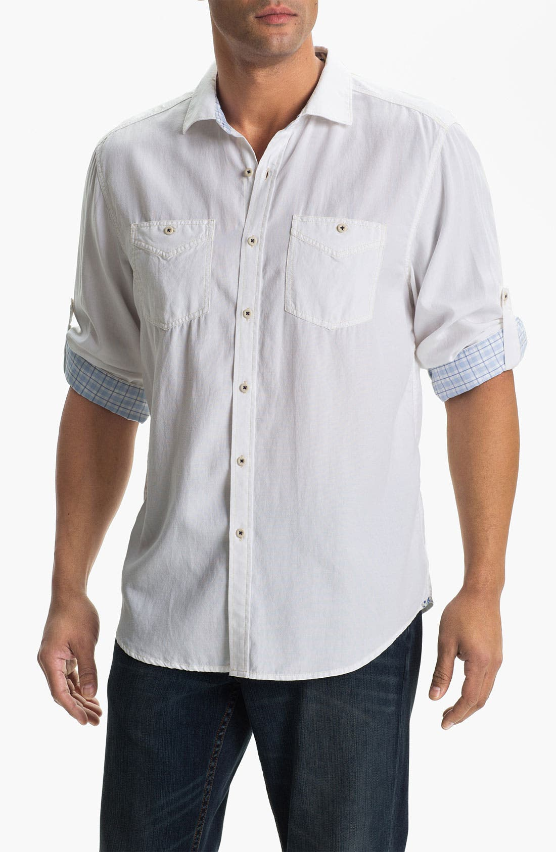 Alternate Image 1 Selected - Tommy Bahama Denim 'Sand City' Island Modern Fit Sport Shirt