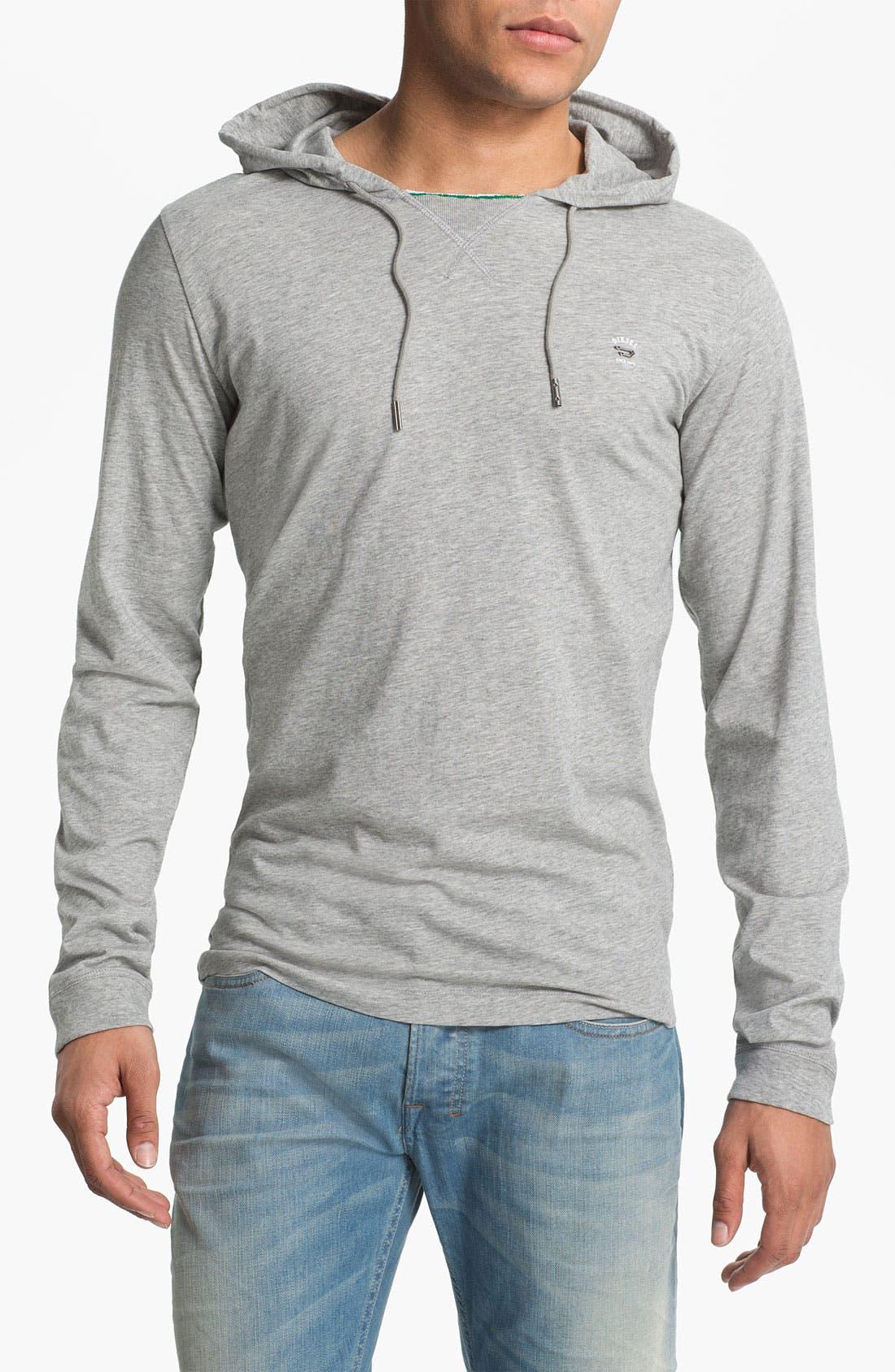 Alternate Image 1 Selected - DIESEL® 'T-Someone' Hooded Long Sleeve T-Shirt