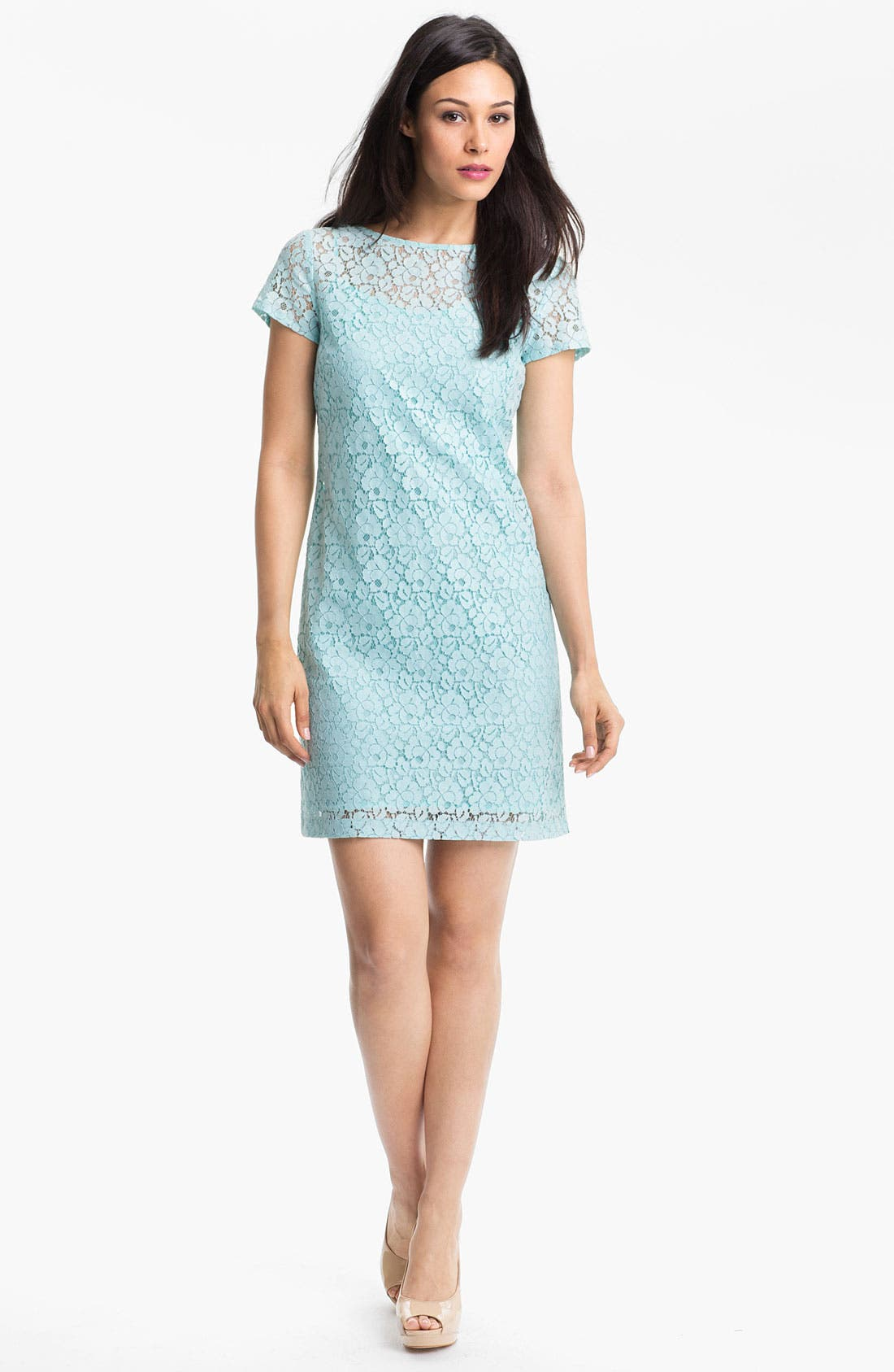 Main Image - Donna Morgan Lace Shift Dress
