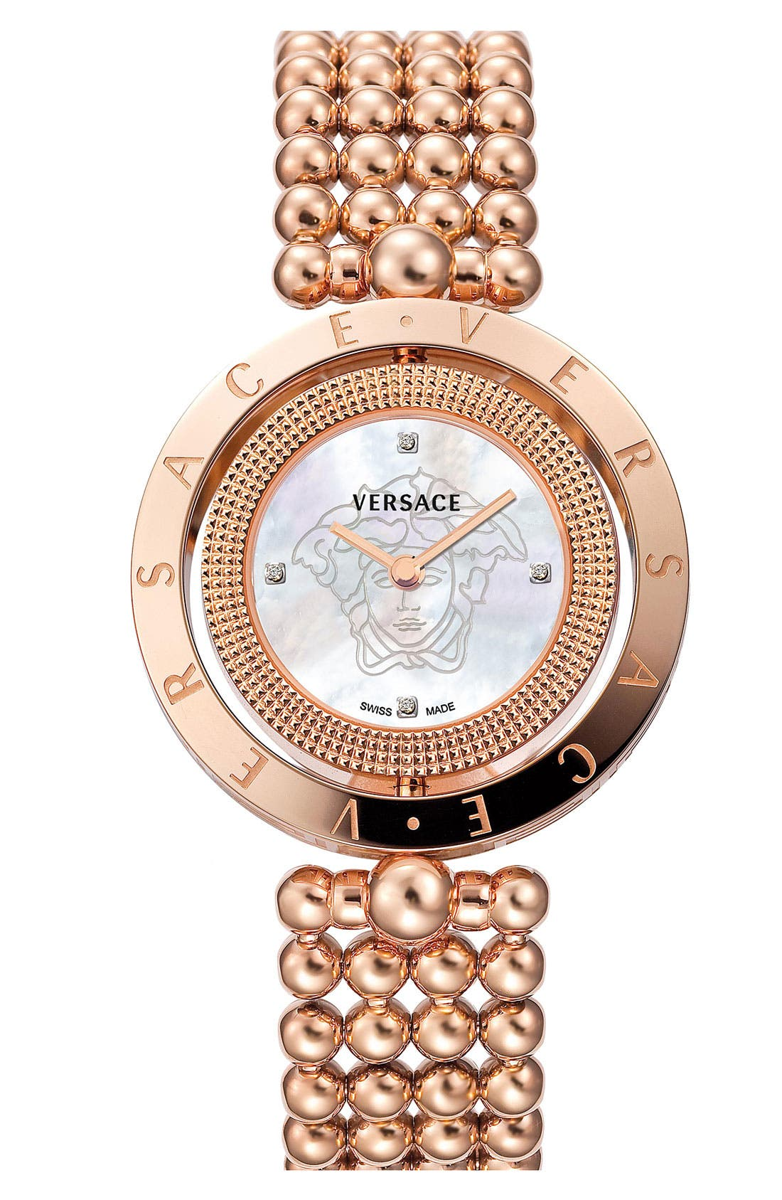 Alternate Image 1 Selected - Versace 'Eon' Reversible Topring Bracelet Watch, 33mm