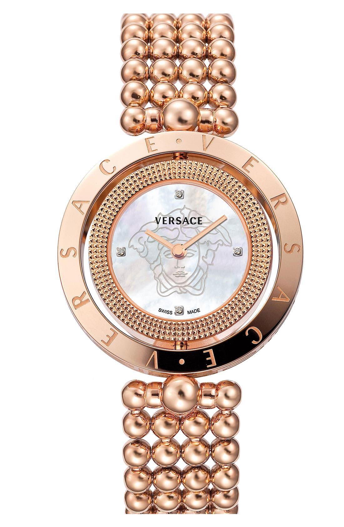 Main Image - Versace 'Eon' Reversible Topring Bracelet Watch, 33mm