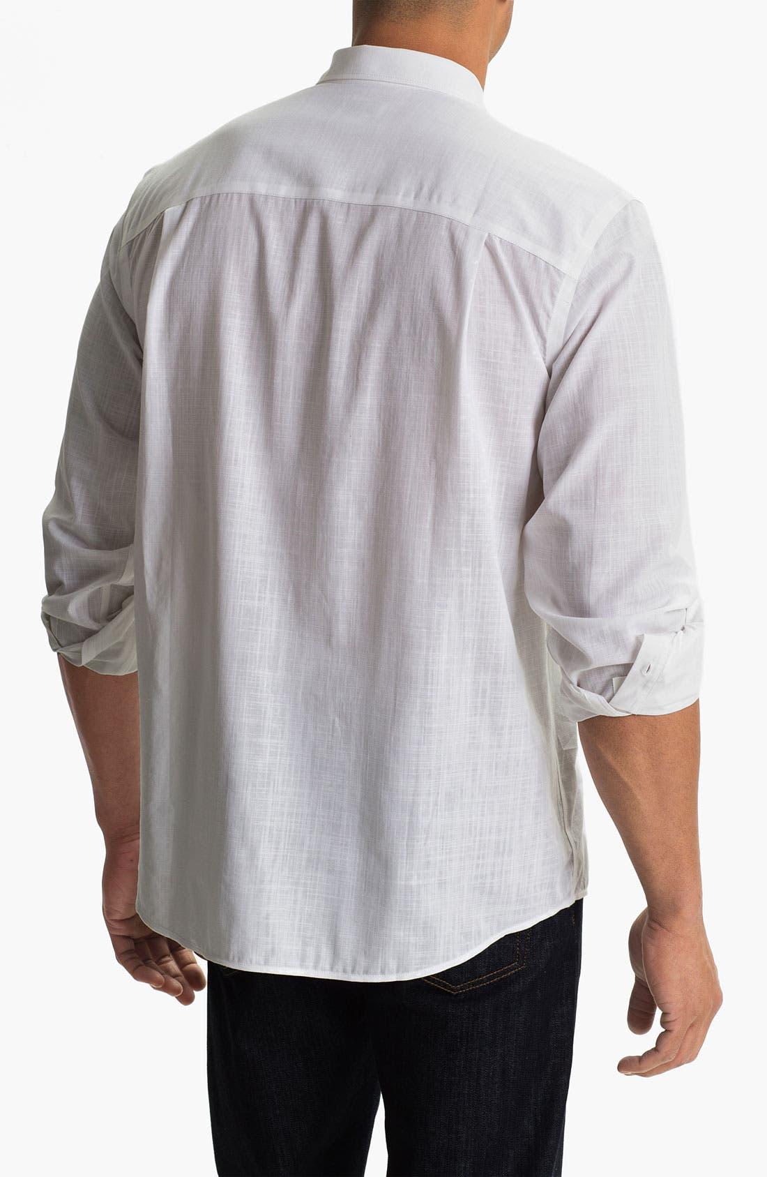 Alternate Image 2  - Cutter & Buck 'Blue Ridge Solid' Regular Fit Sport Shirt (Big & Tall)