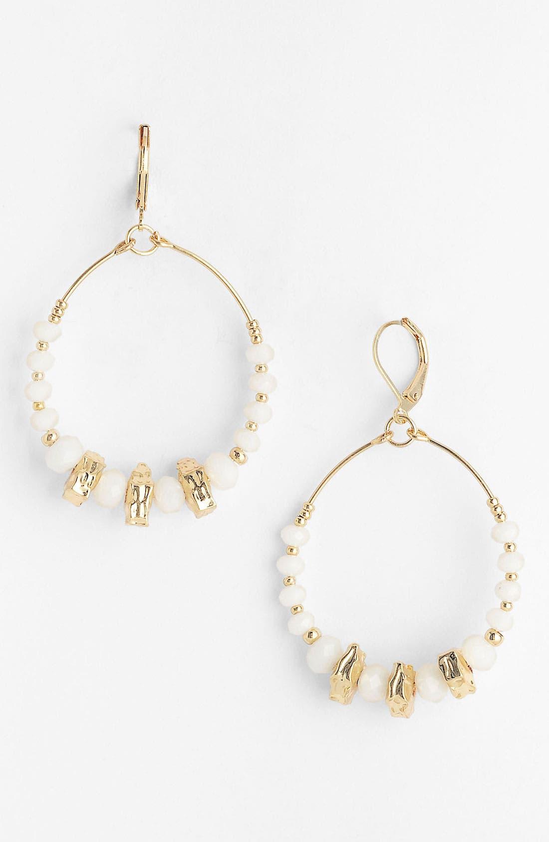 Alternate Image 1 Selected - Nordstrom Frontal Hoop Earrings