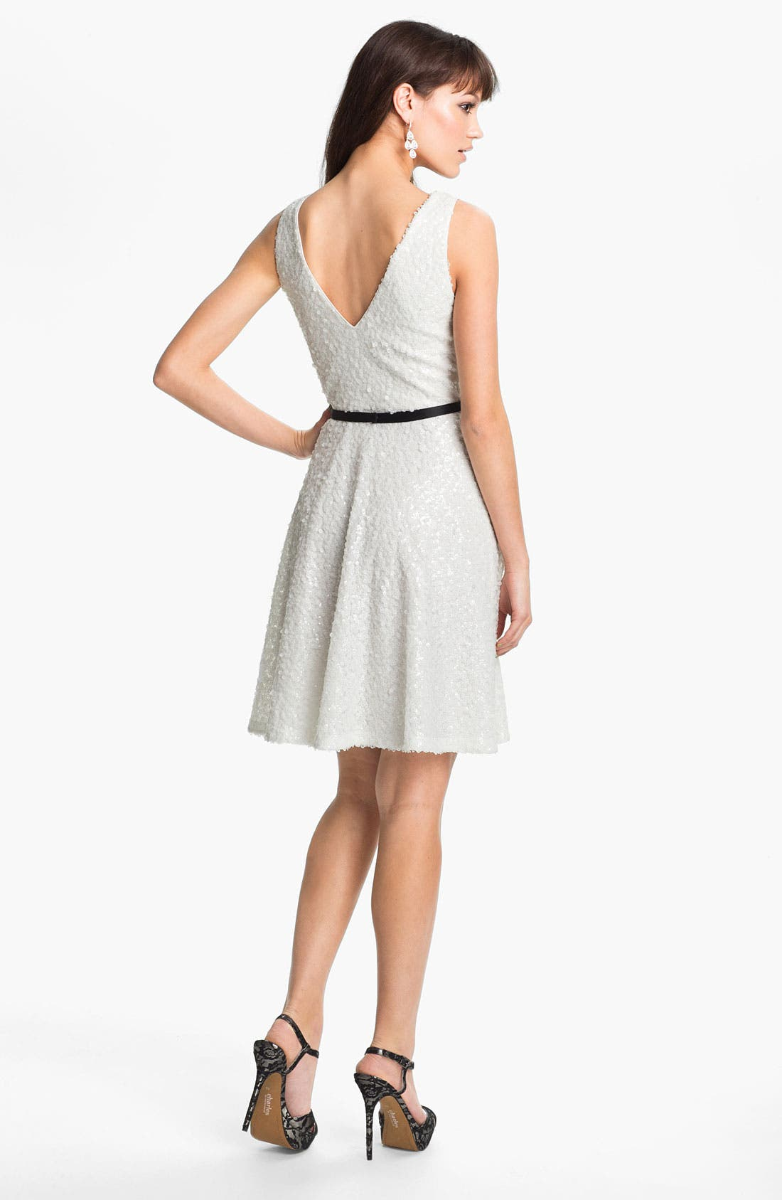 Alternate Image 2  - Laundry by Shelli Segal Sequin Fit & Flare Dress