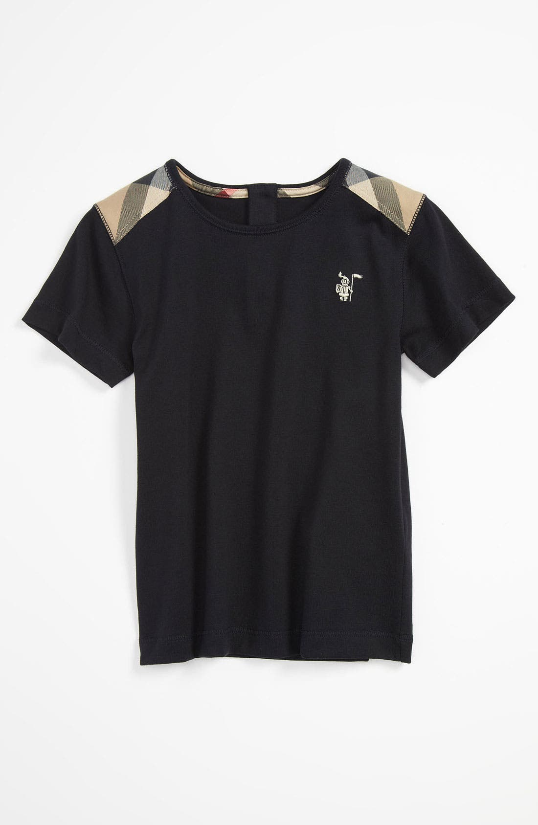 Alternate Image 1 Selected - Burberry Shoulder Patch T-Shirt (Toddler)