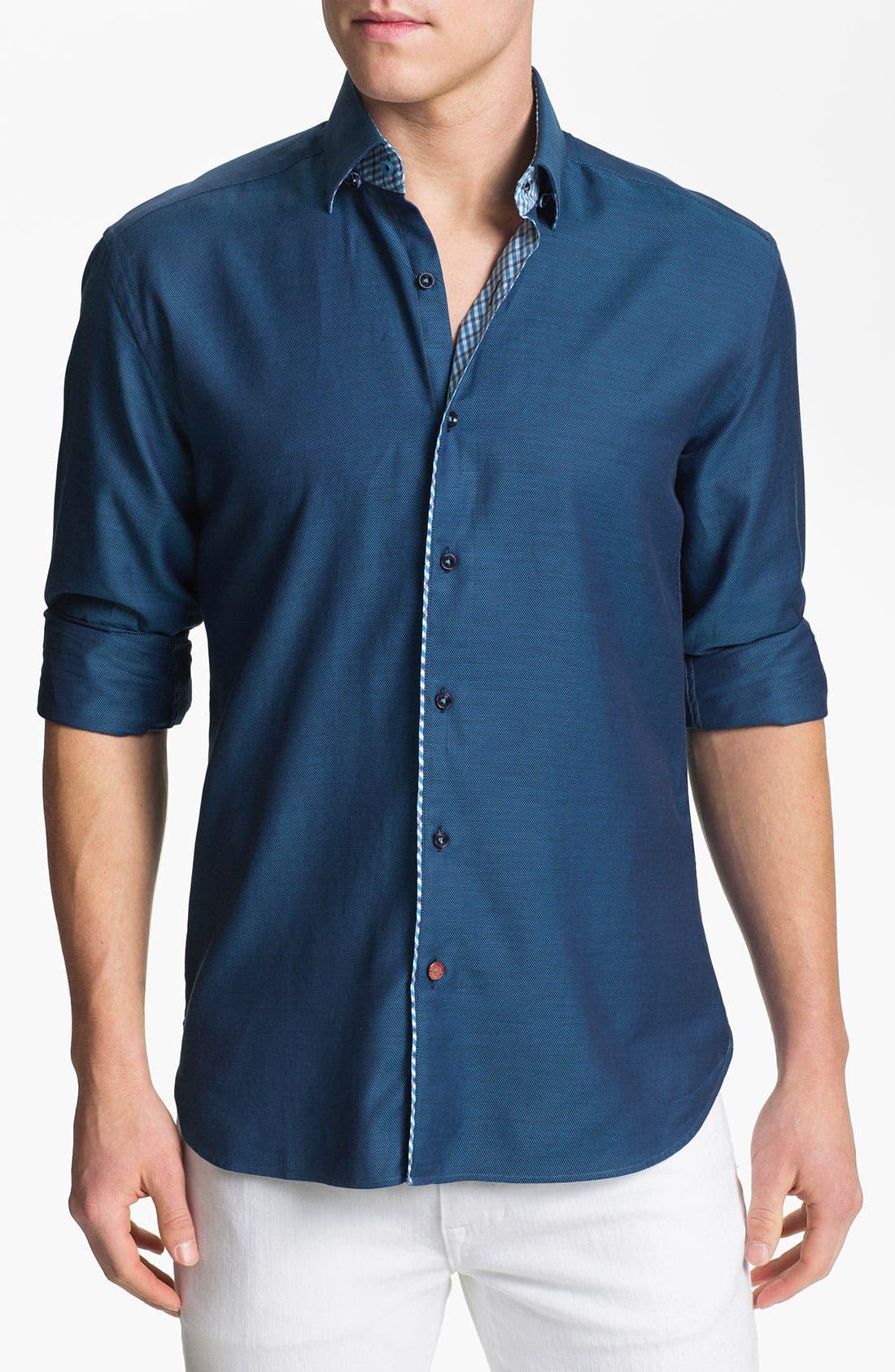 Main Image - Stone Rose Texture Woven Shirt