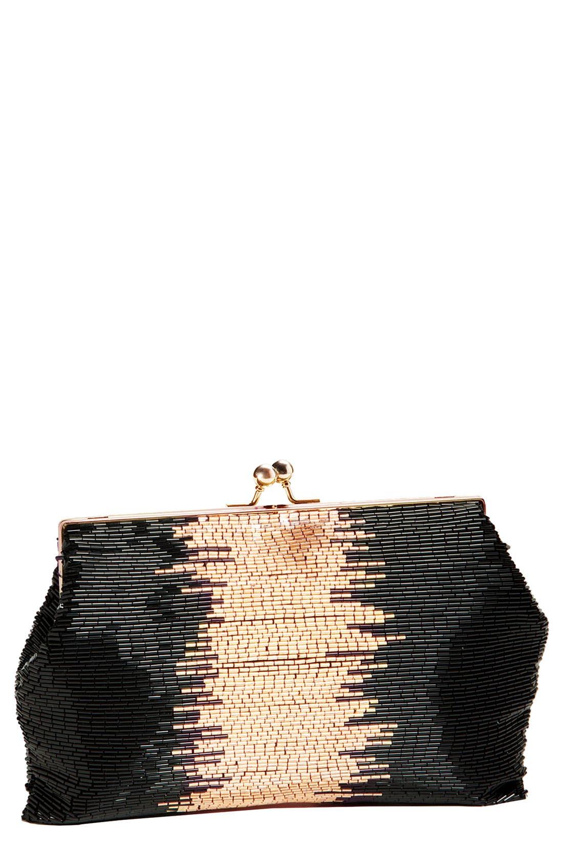 Main Image - Tasha 'Badge' Beaded Clutch