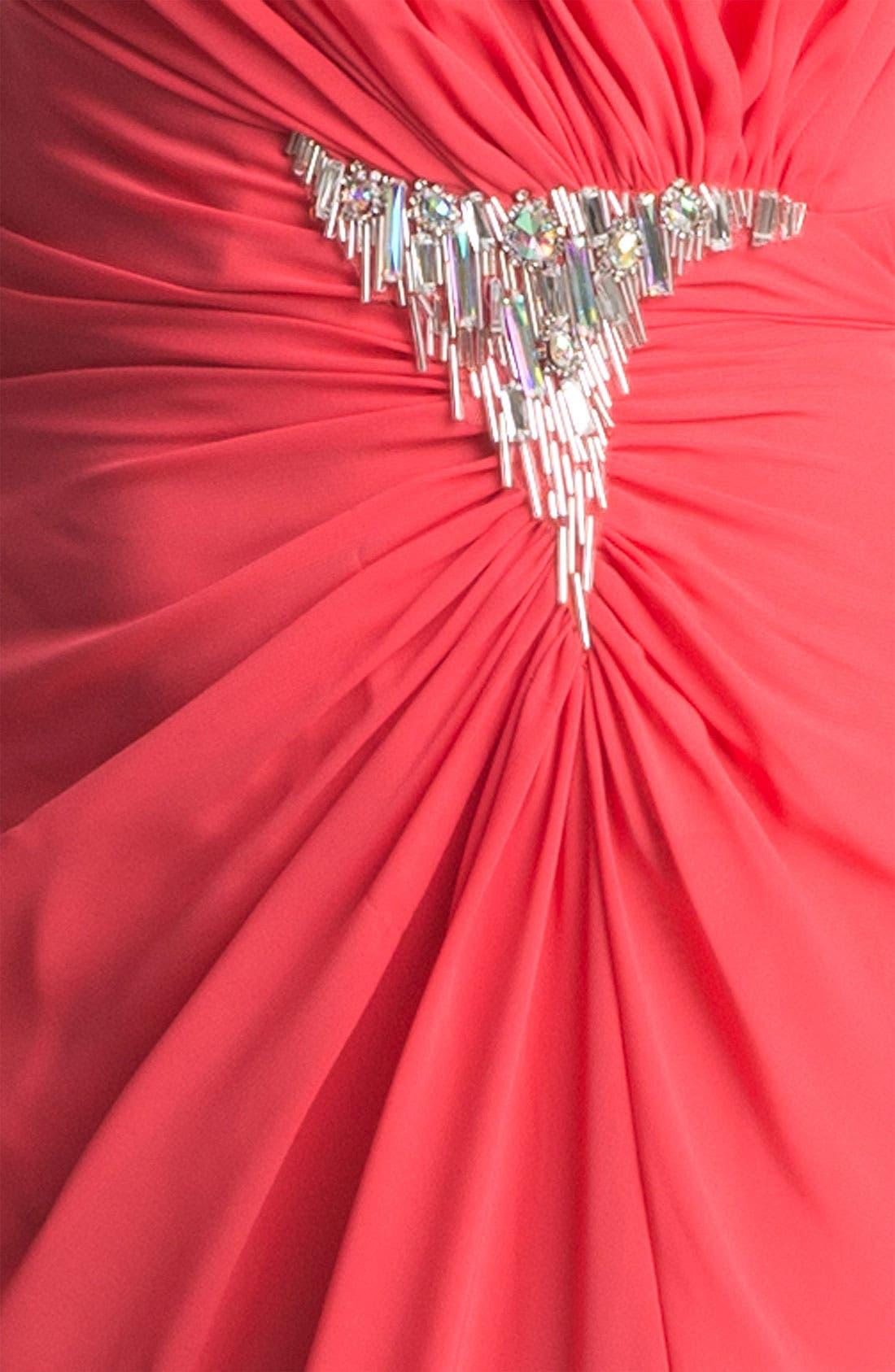 Alternate Image 3  - Faviana Embellished Strapless Chiffon Gown