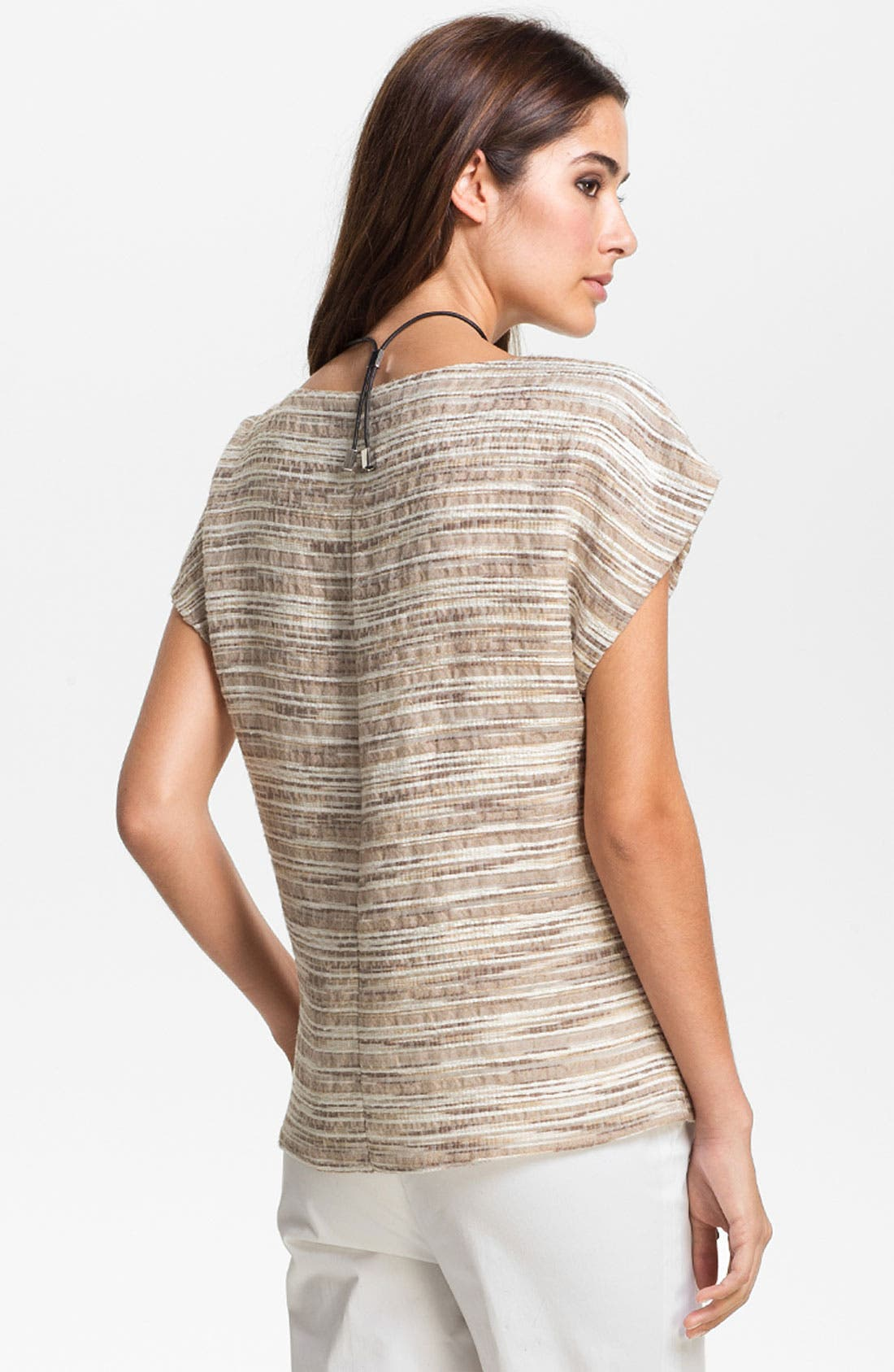 Alternate Image 2  - Lafayette 148 New York 'Eartha - Cordial Reed Cloth' Top