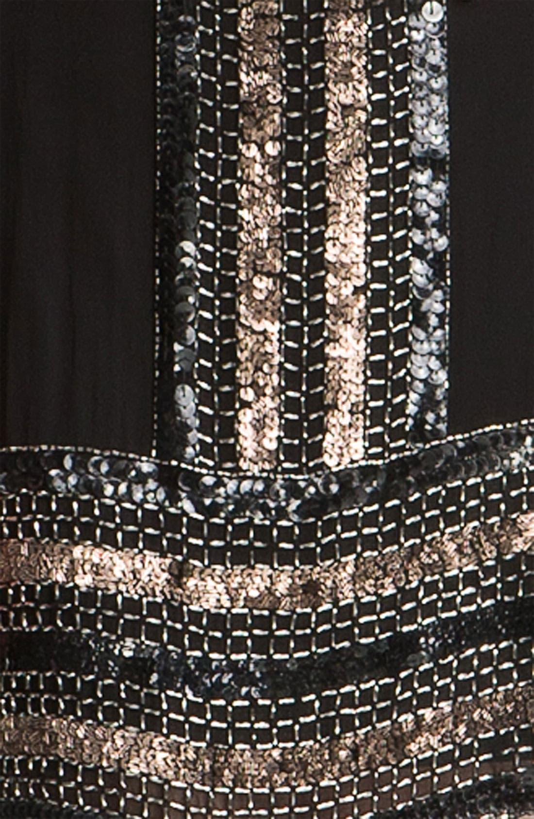 Alternate Image 3  - Adrianna Papell Embellished Silk Chiffon Shift Dress (Petite)