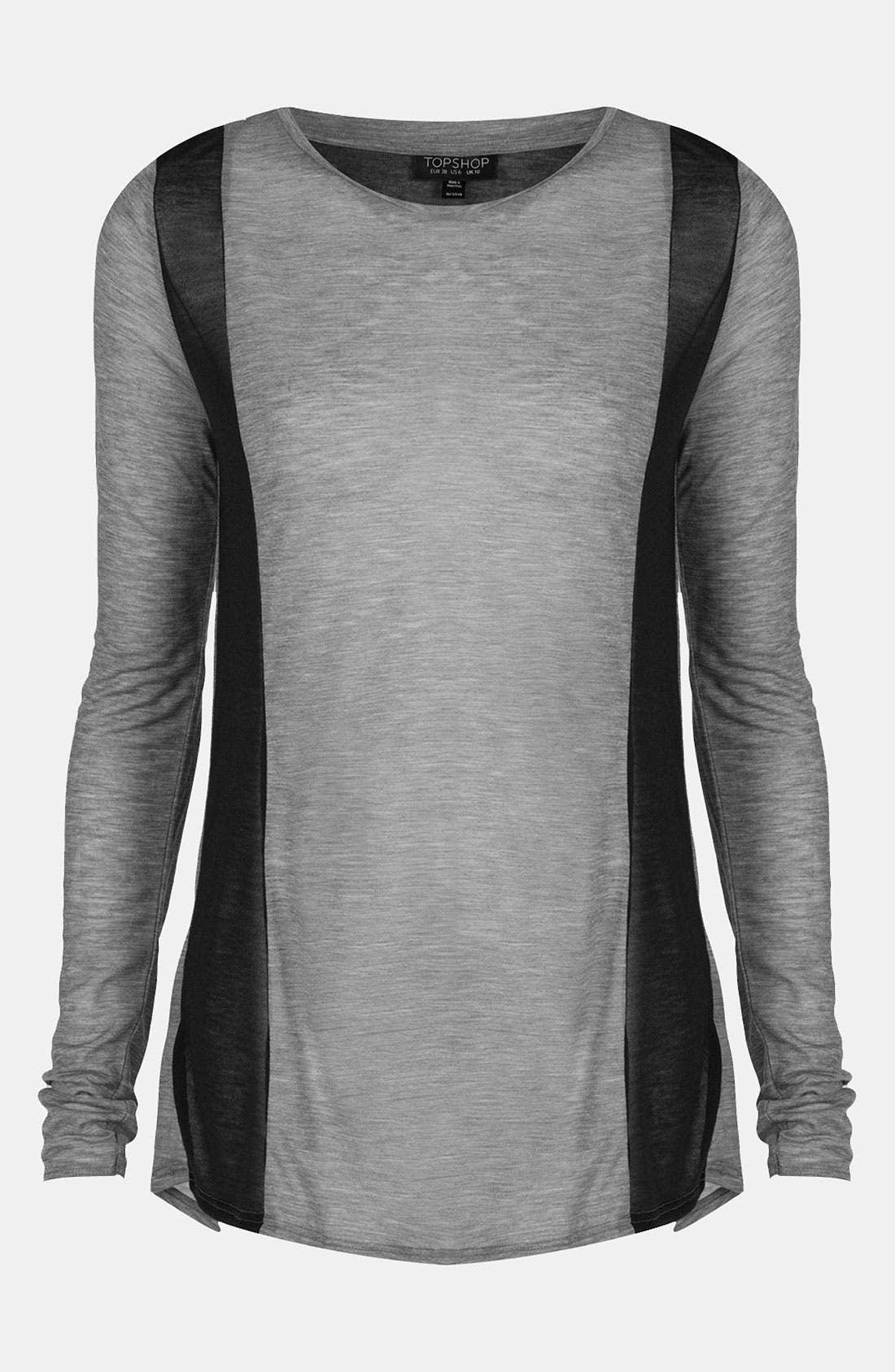 Alternate Image 1 Selected - Topshop Contrast Panel Top